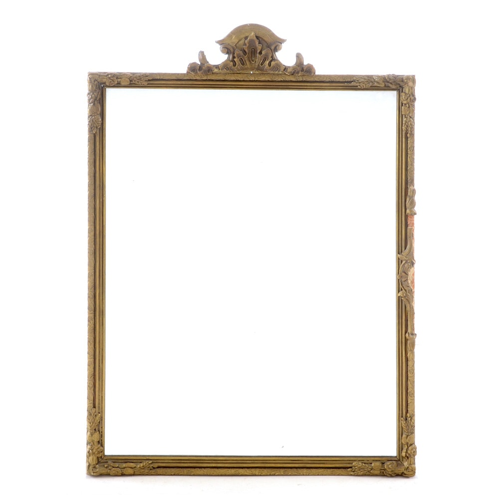 Vintage Wall Mirror with Gilt Frame