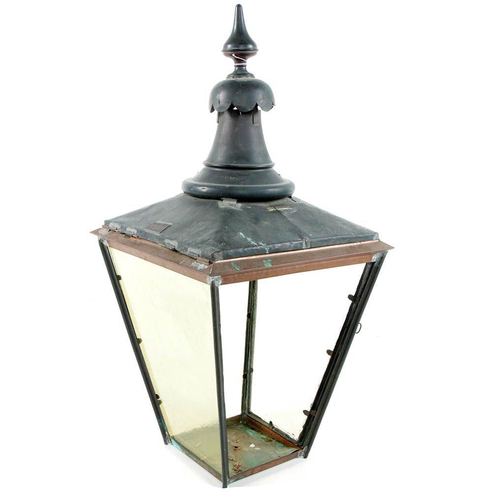 Antique Copper London Street Lamp c. 1900