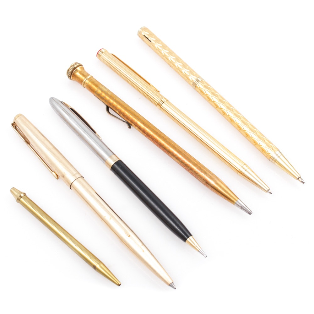 Vintage Mechanical Pencils and Ballpoint Pens
