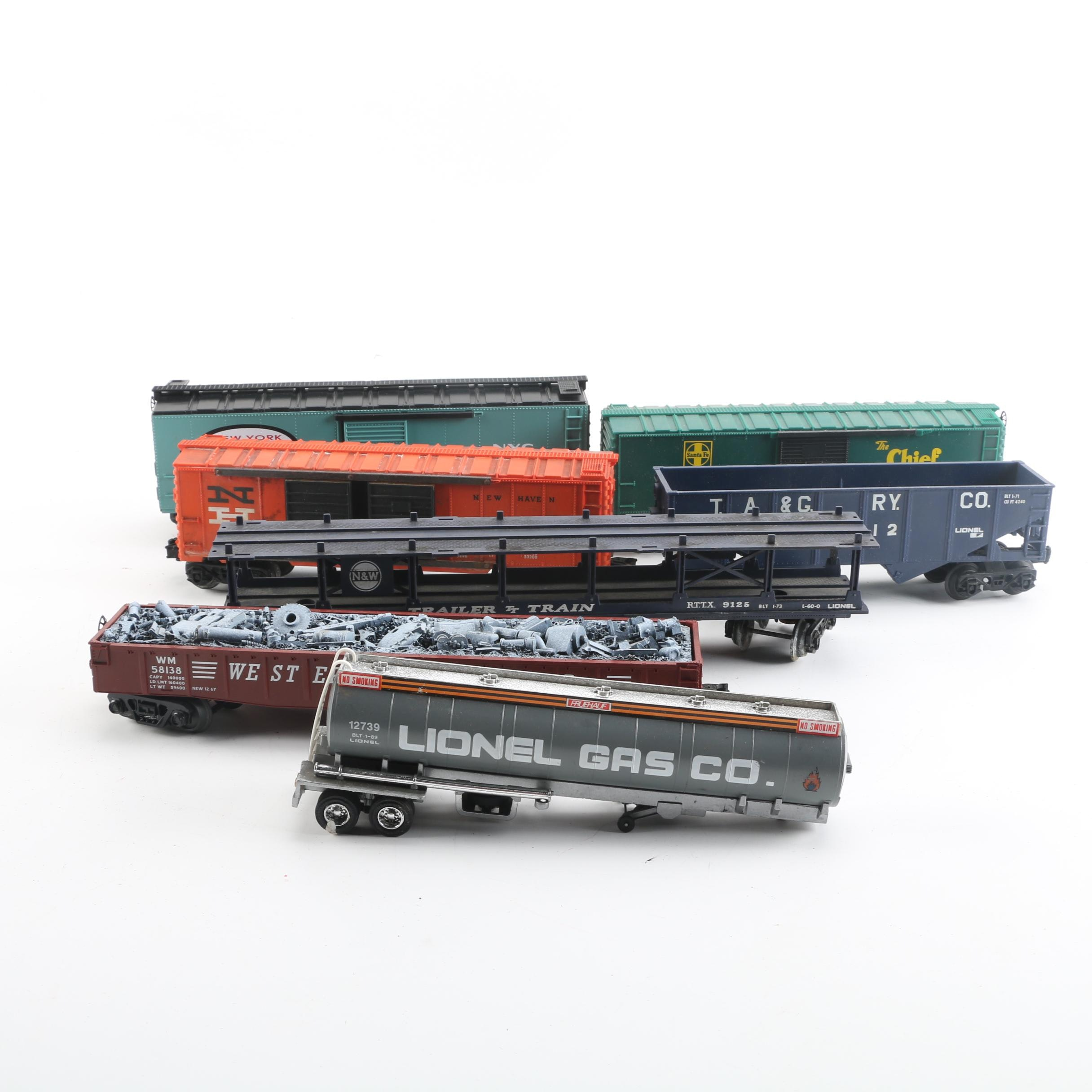 Lionel and MTH Freight Train Cars