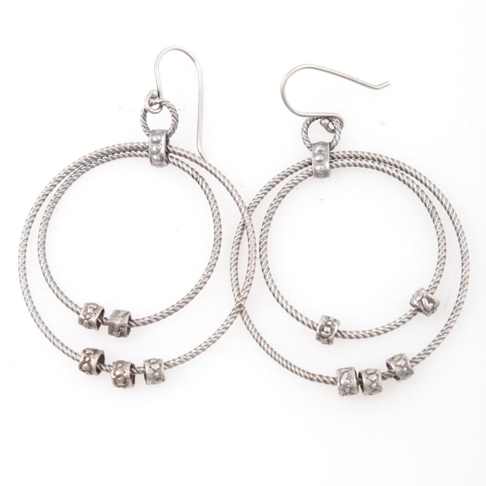 Silpada Sterling Silver Twisted Hoop Earrings
