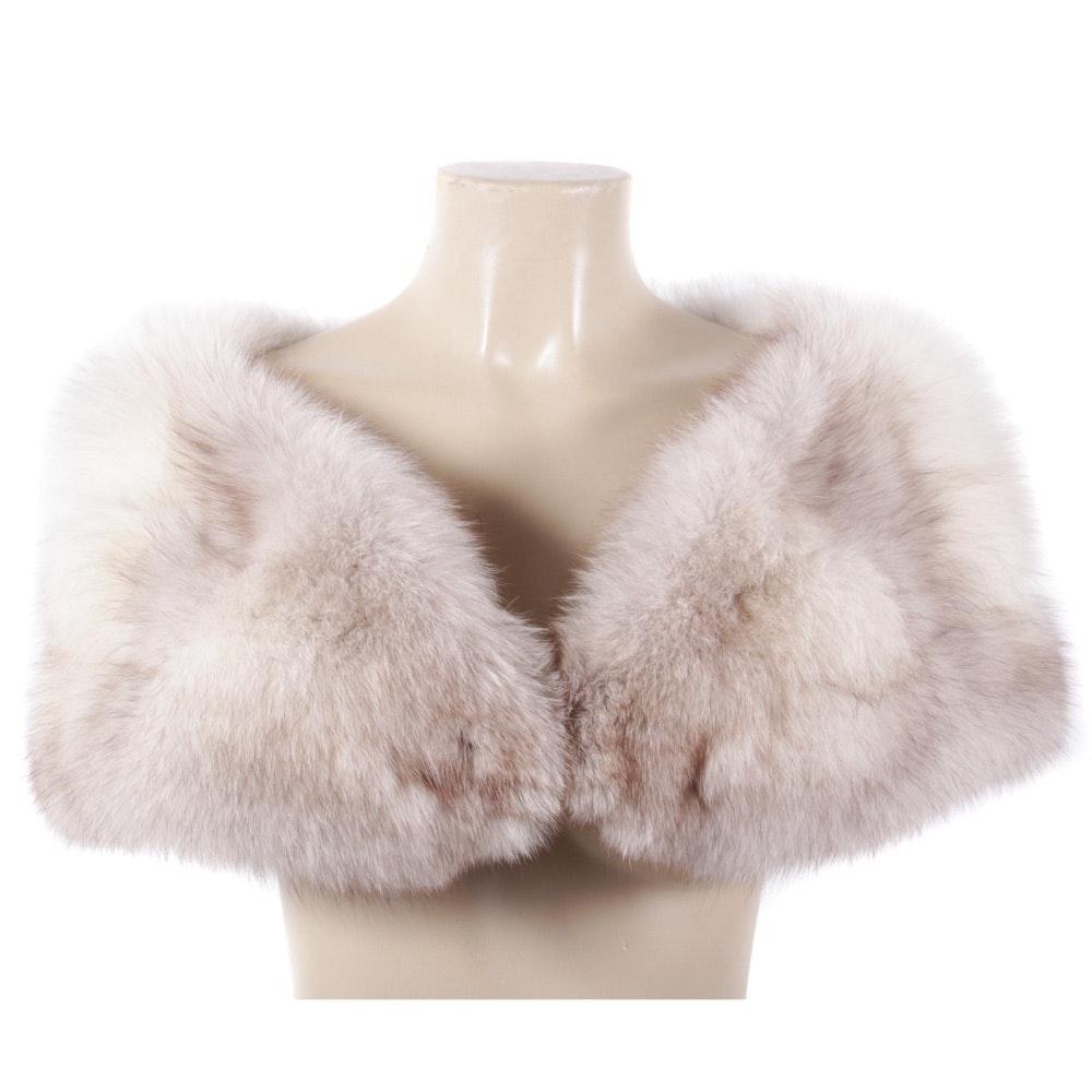 Vintage Blue Fox Fur Stole