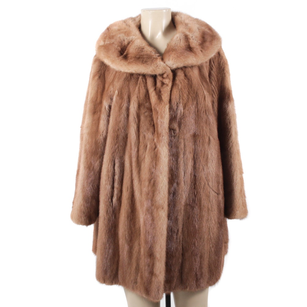 Vintage Mink Fur Stroller Coat