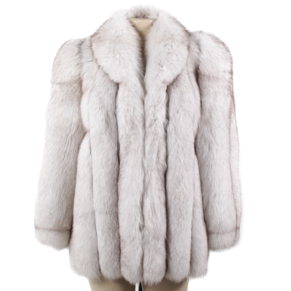 Koslow's Blue Fox Fur Jacket
