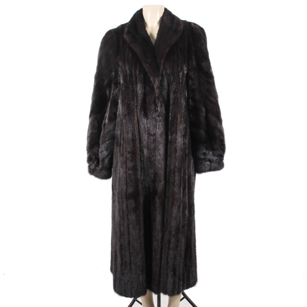 Full-Length Ranch Mink Fur Coat