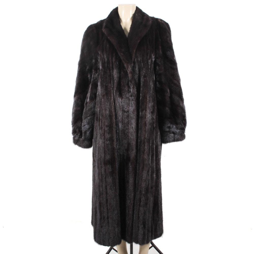Full-Length Ranch Mink Fur Coat