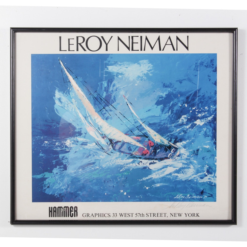 """LeRoy Neiman """"Sailing"""" Signed Offset Lithograph"""