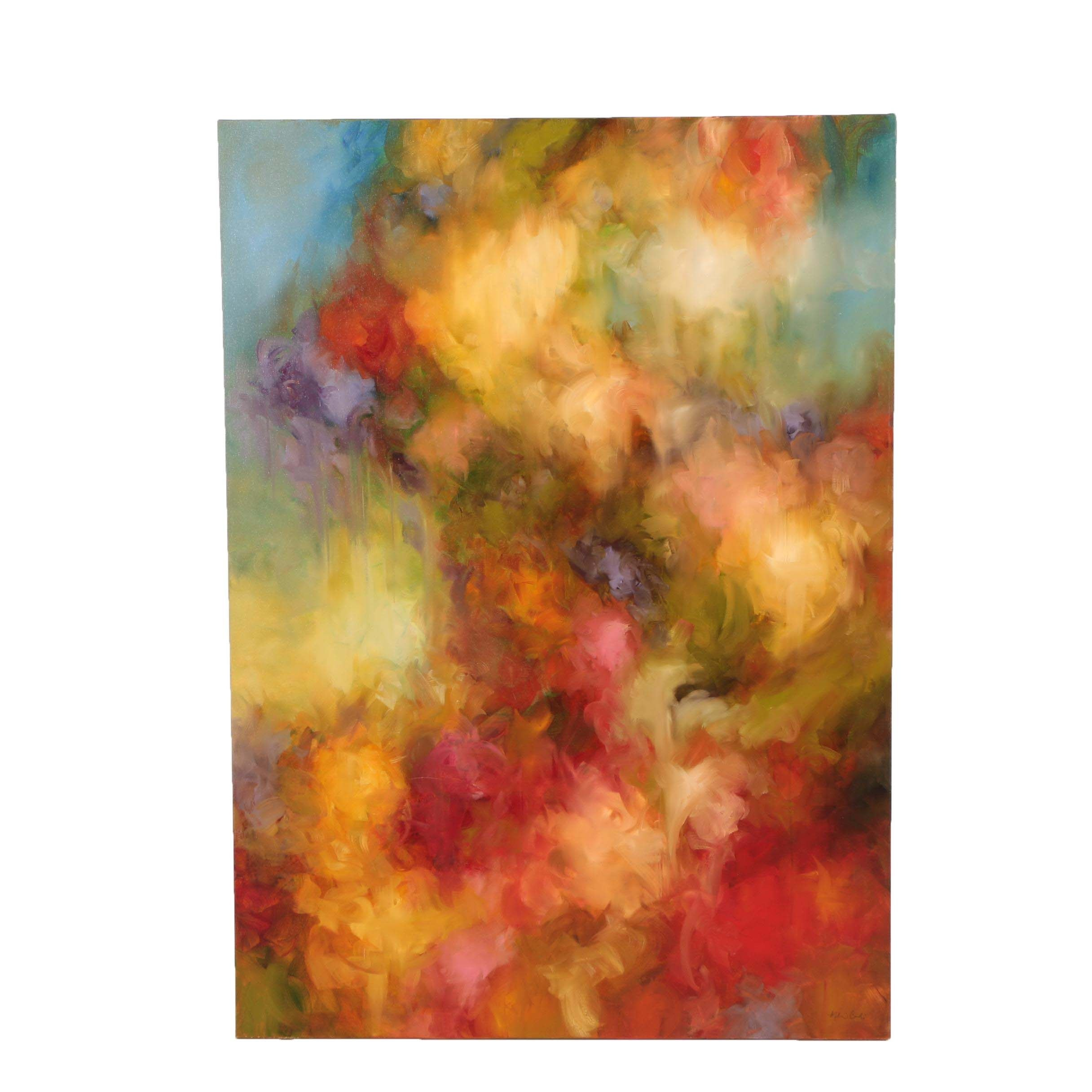 "Melanie Corradi 2005 Oil Painting ""Contingency Theory"""