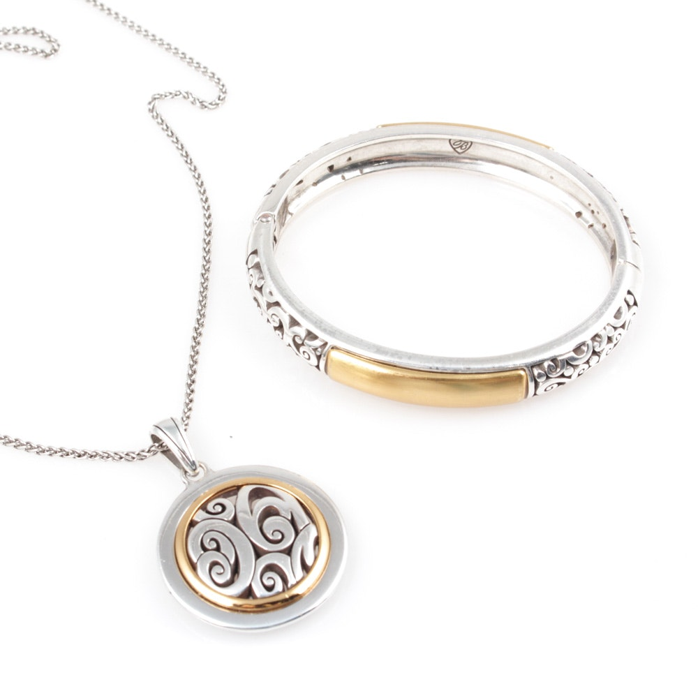Brighton Pendant Necklace and Bangle Bracelet