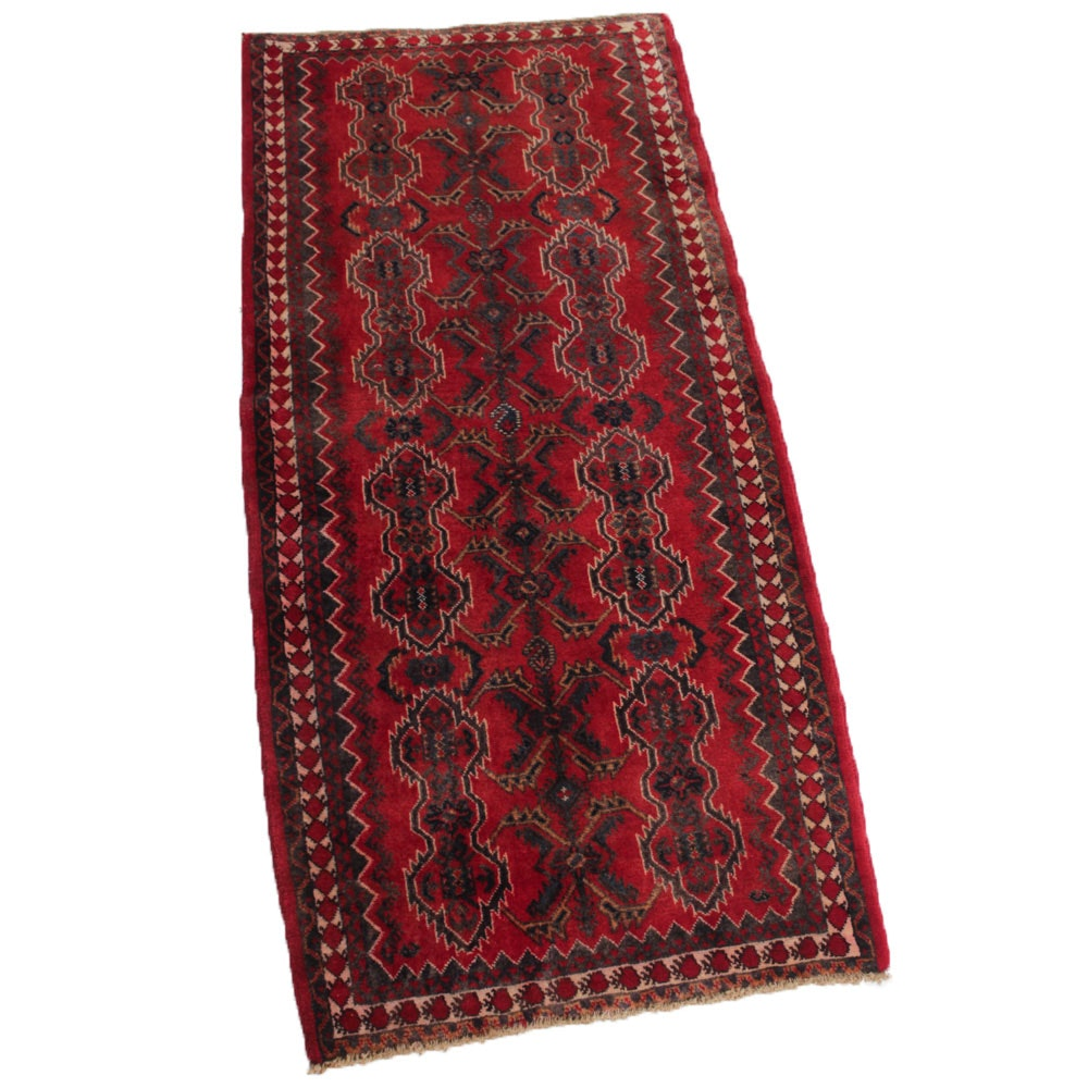 3' x 7' Vintage Hand-Knotted Persian Bijar Rug Runner