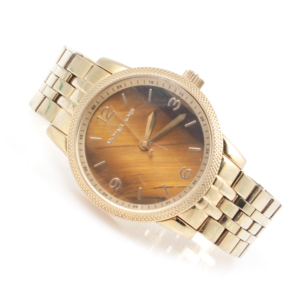Michael Kors Gold Tone Stainless Steel Wristwatch