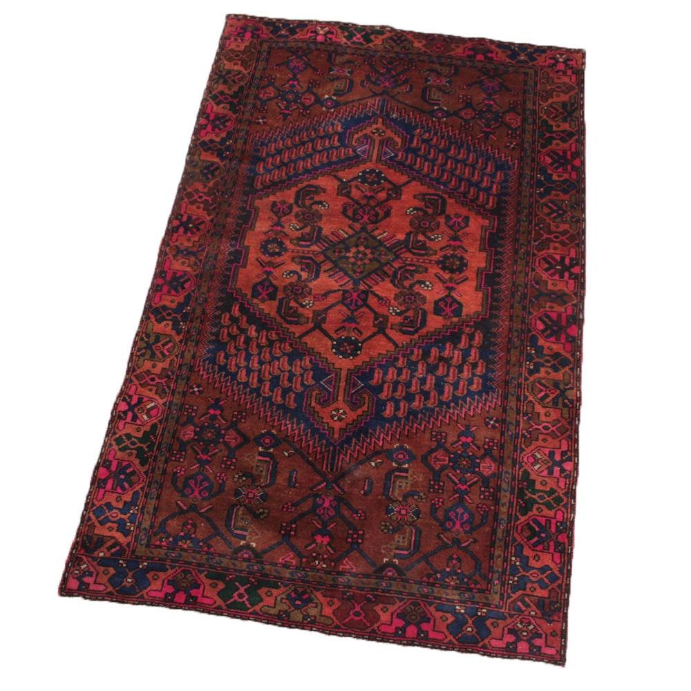 3'10 x 6'5 Vintage Hand-Knotted Persian Kurdish Bijar Area Rug