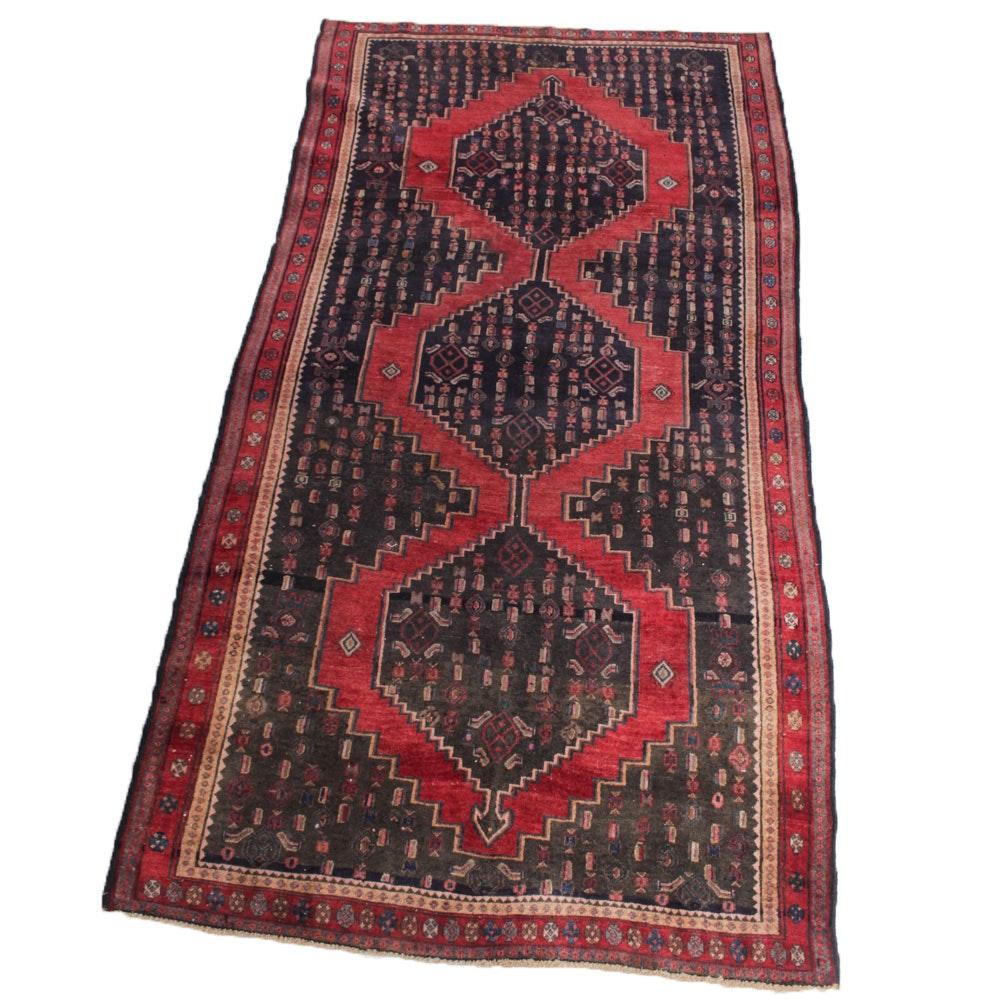Vintage Hand-Knotted Persian Karaja Heriz Area Rug