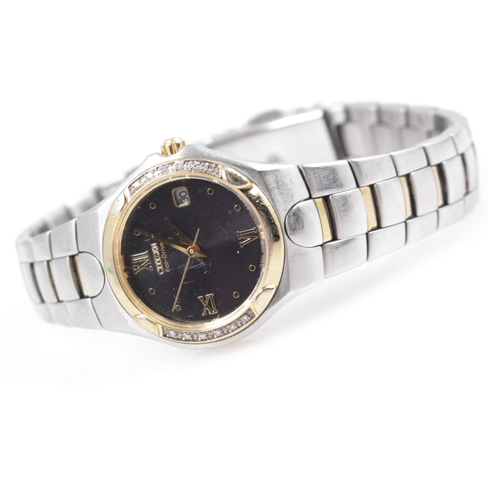 Citizen Eco Drive Diamond Accent Wristwatch