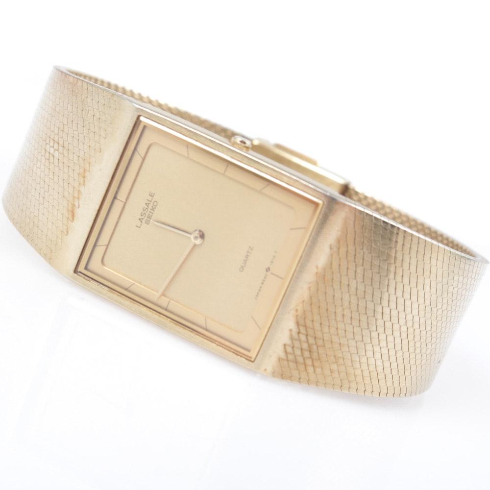 Seiko Lassale Gold Tone Wristwatch