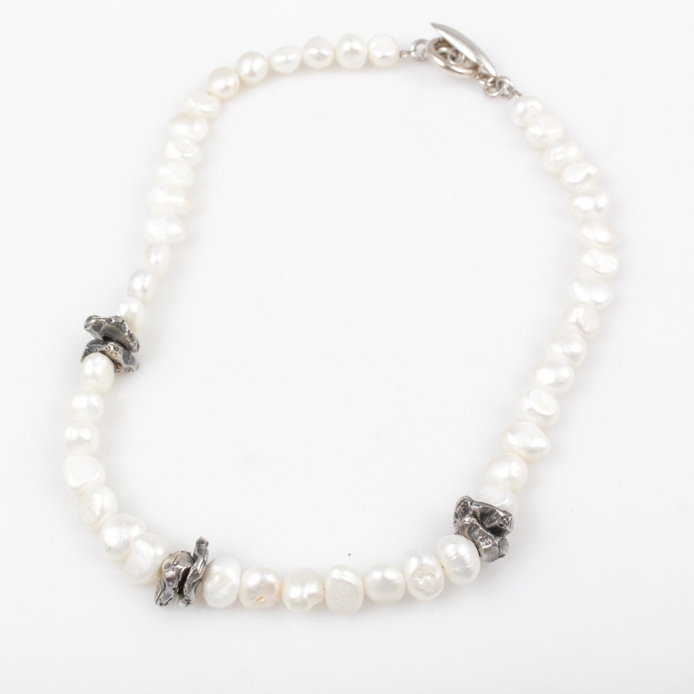 Cultured Baroque Pearl Choker Necklace