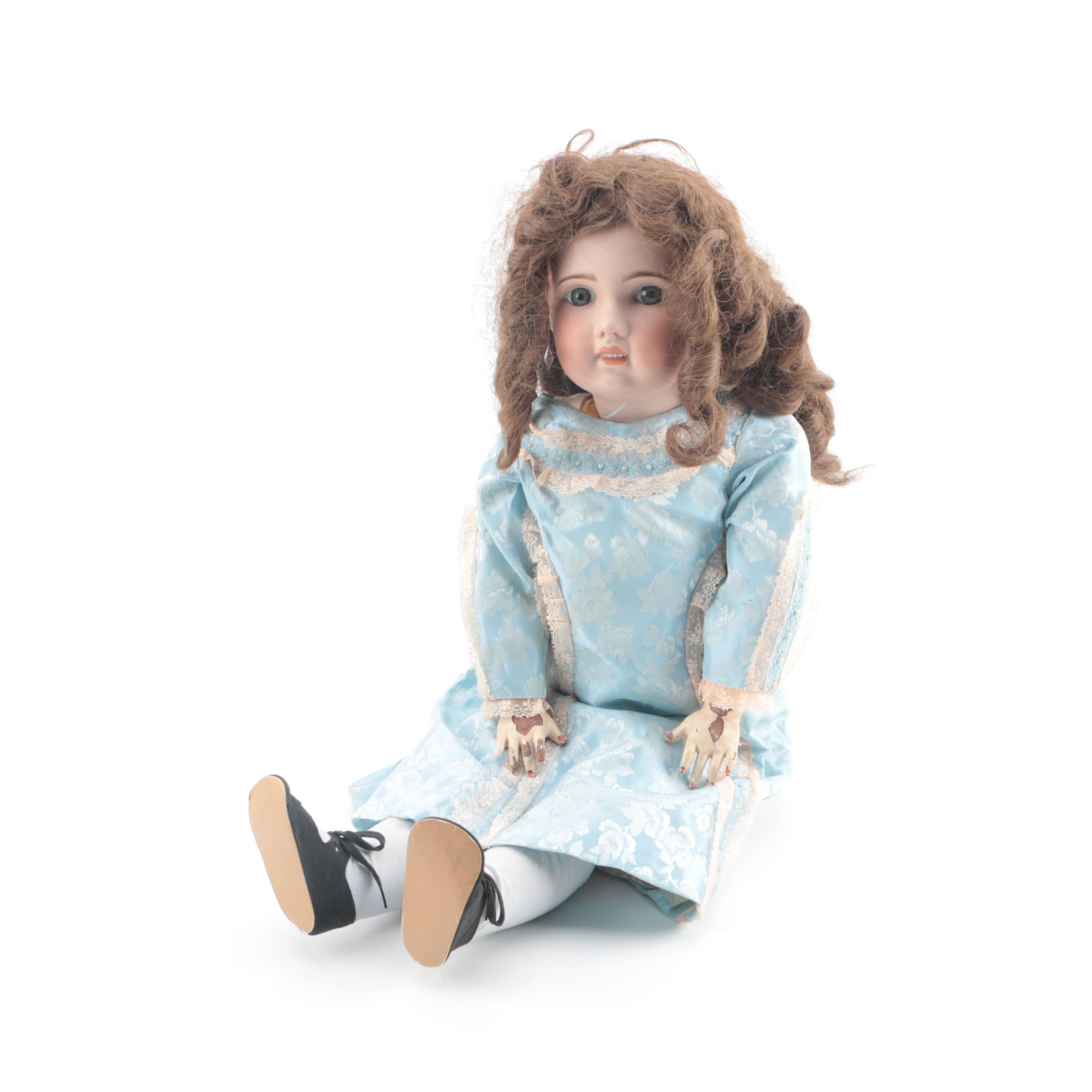 Semi-Antique German Bisque and Composition Doll