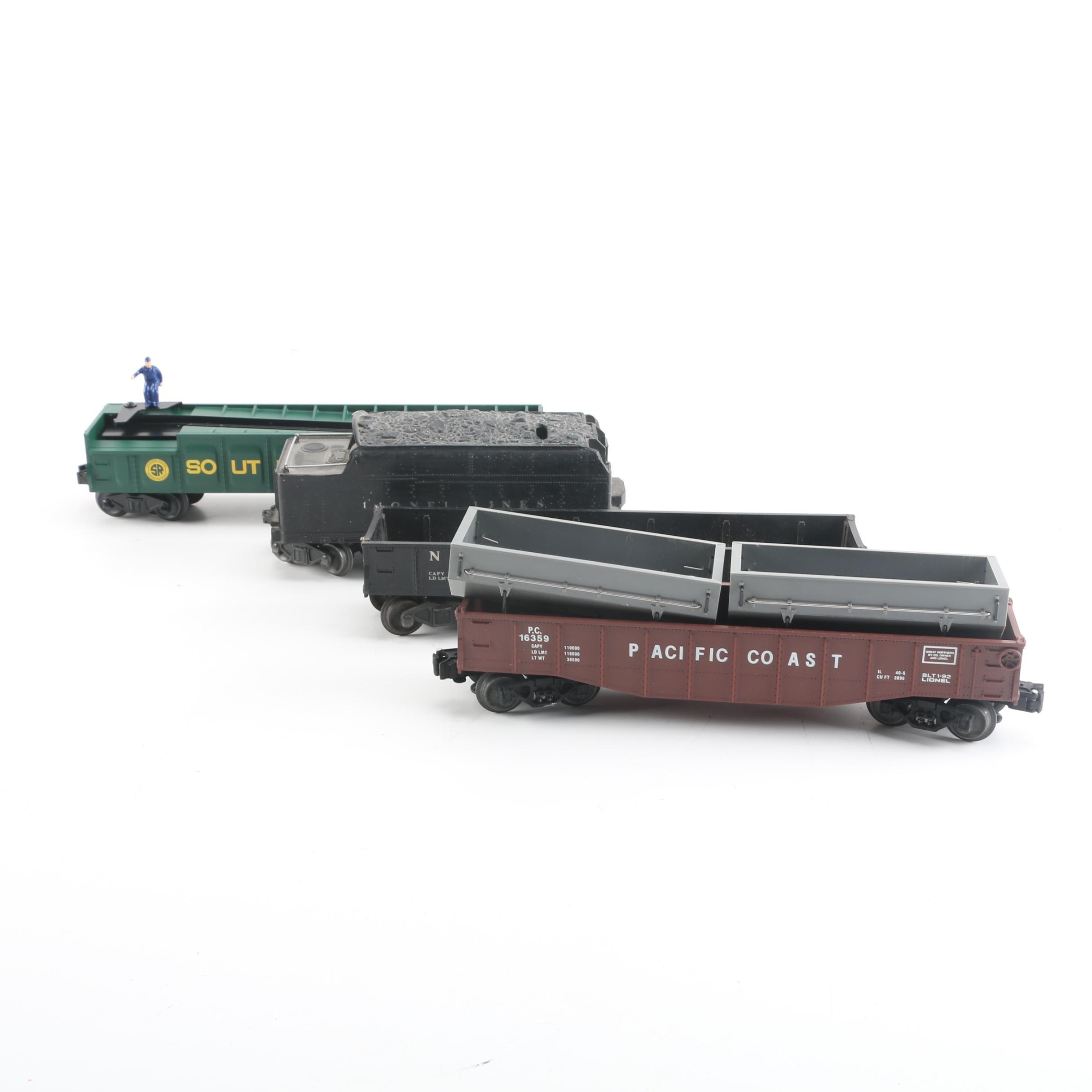 Vintage Lionel Train Cars Including Coal Tender