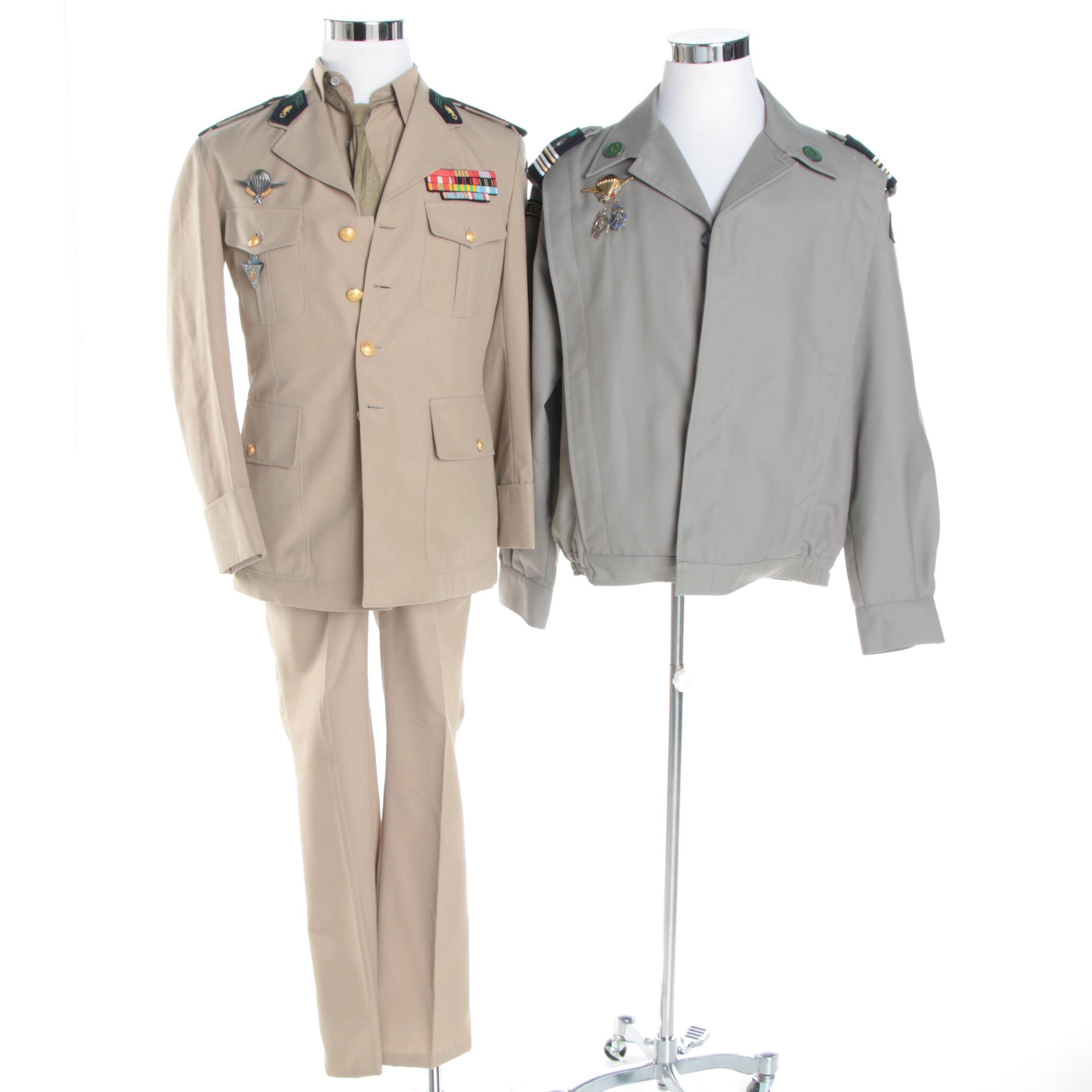 French Foreign Legion Colonel Uniform and 2nd Foreign Parachute Regiment Jacket