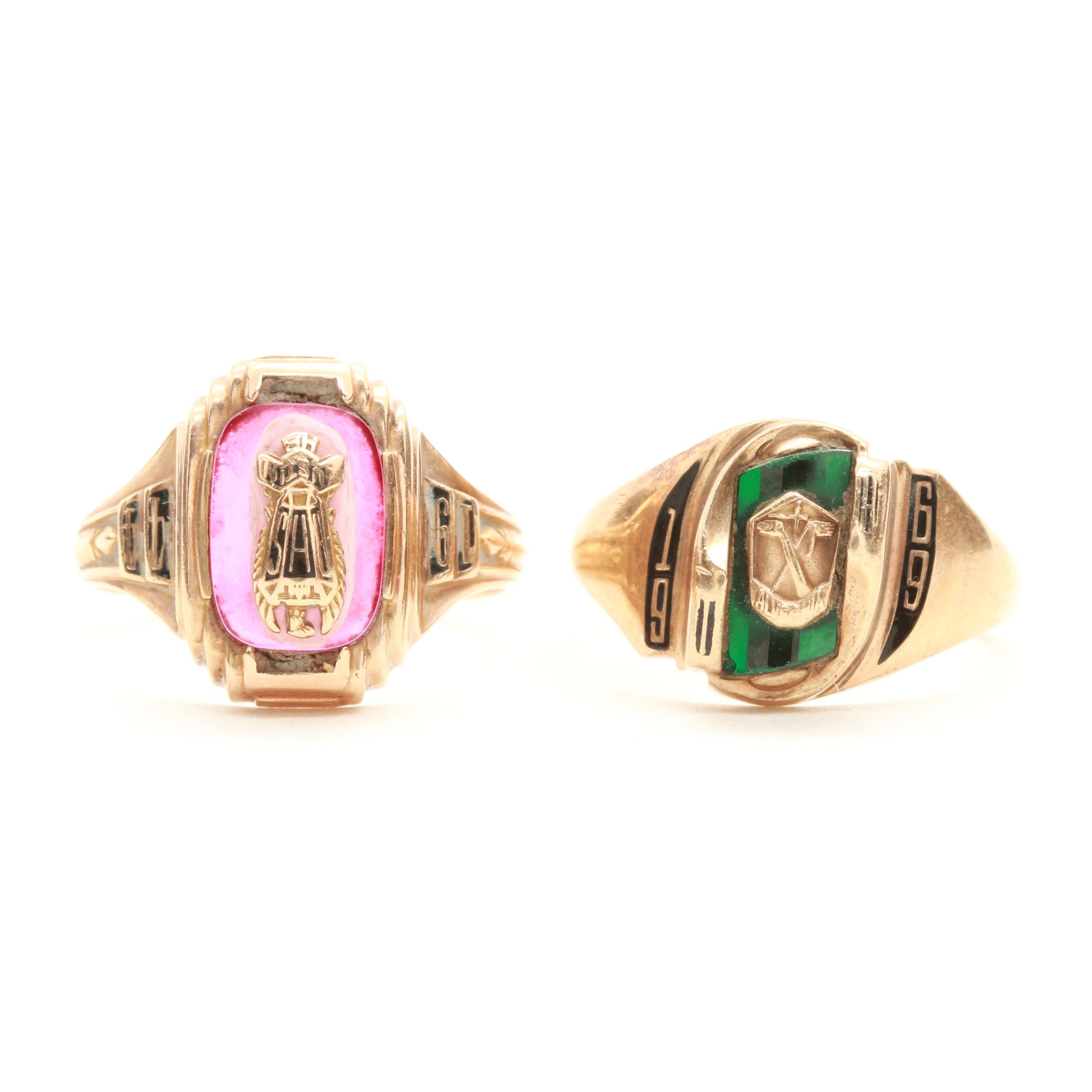 10K Yellow Gold Synthetic Spinel Class Ring Selection