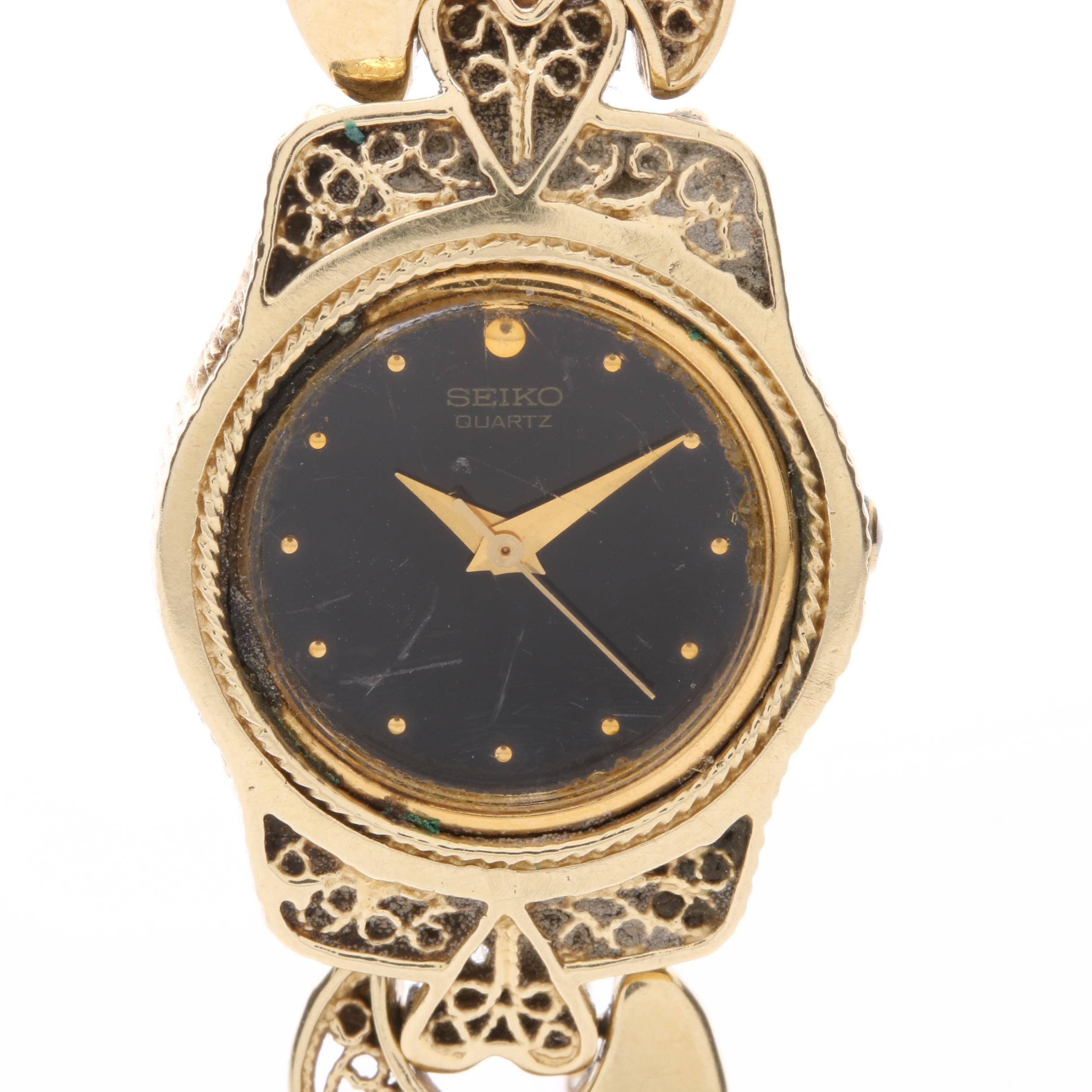 Seiko 14K Yellow Gold Quartz Wristwatch