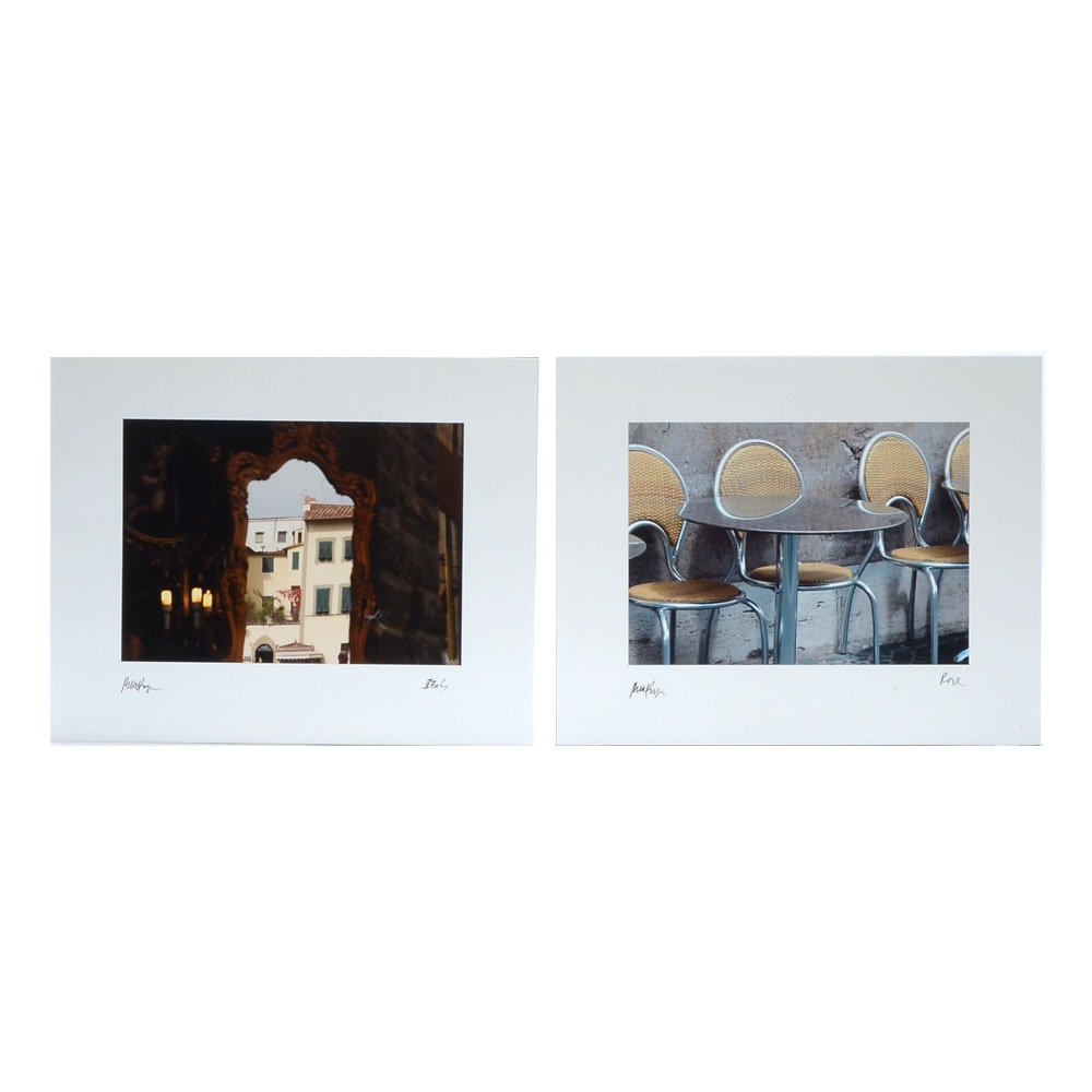 Two Robbie Kemper Color Digital Prints of Travel Photographs