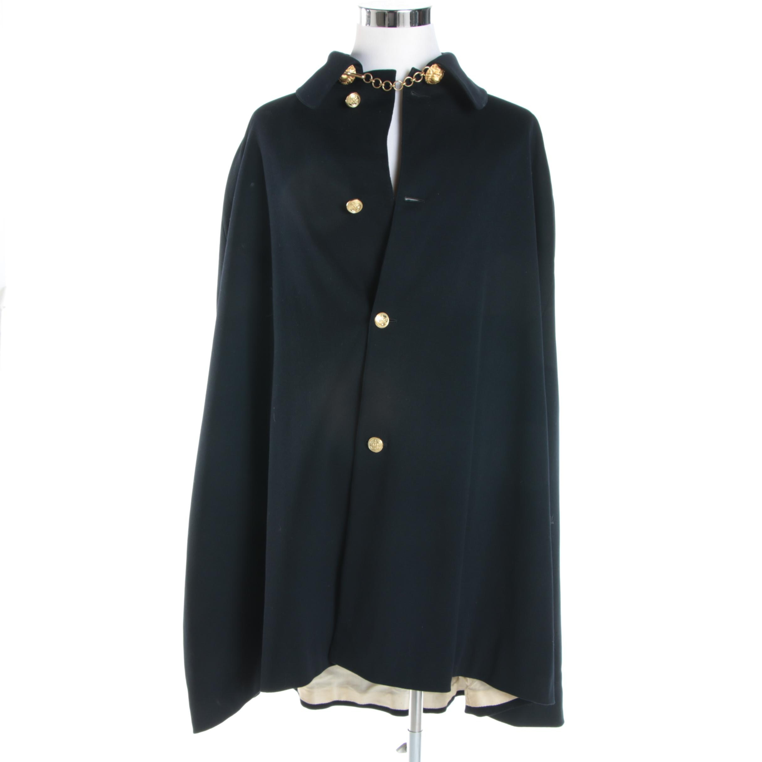 Men's Vintage Firmin & Sons Naval Wool Poncho