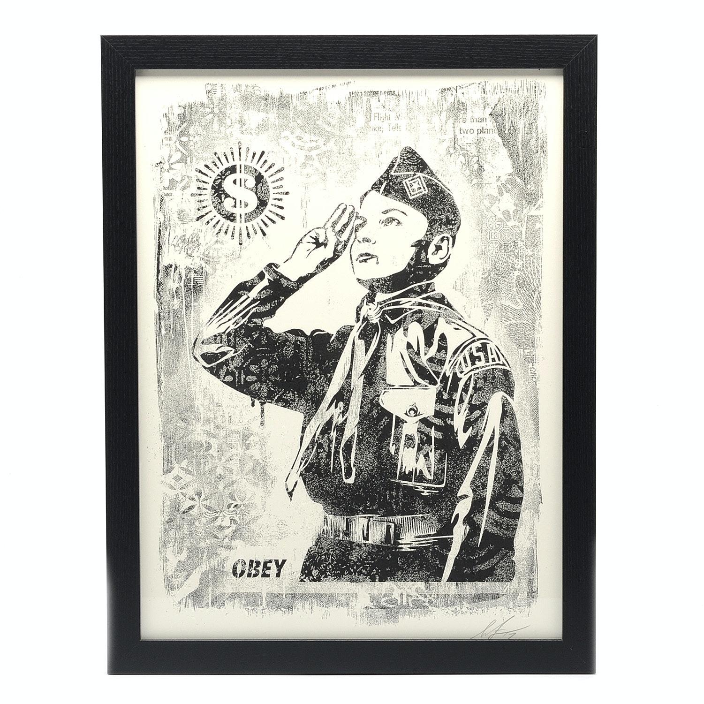 "Shepard Fairey Signed Offset Print ""Boy Scout"""