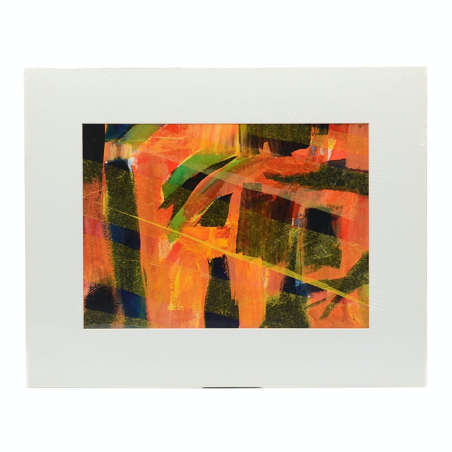Carol Mathews Original Abstract Mixed Media Painting