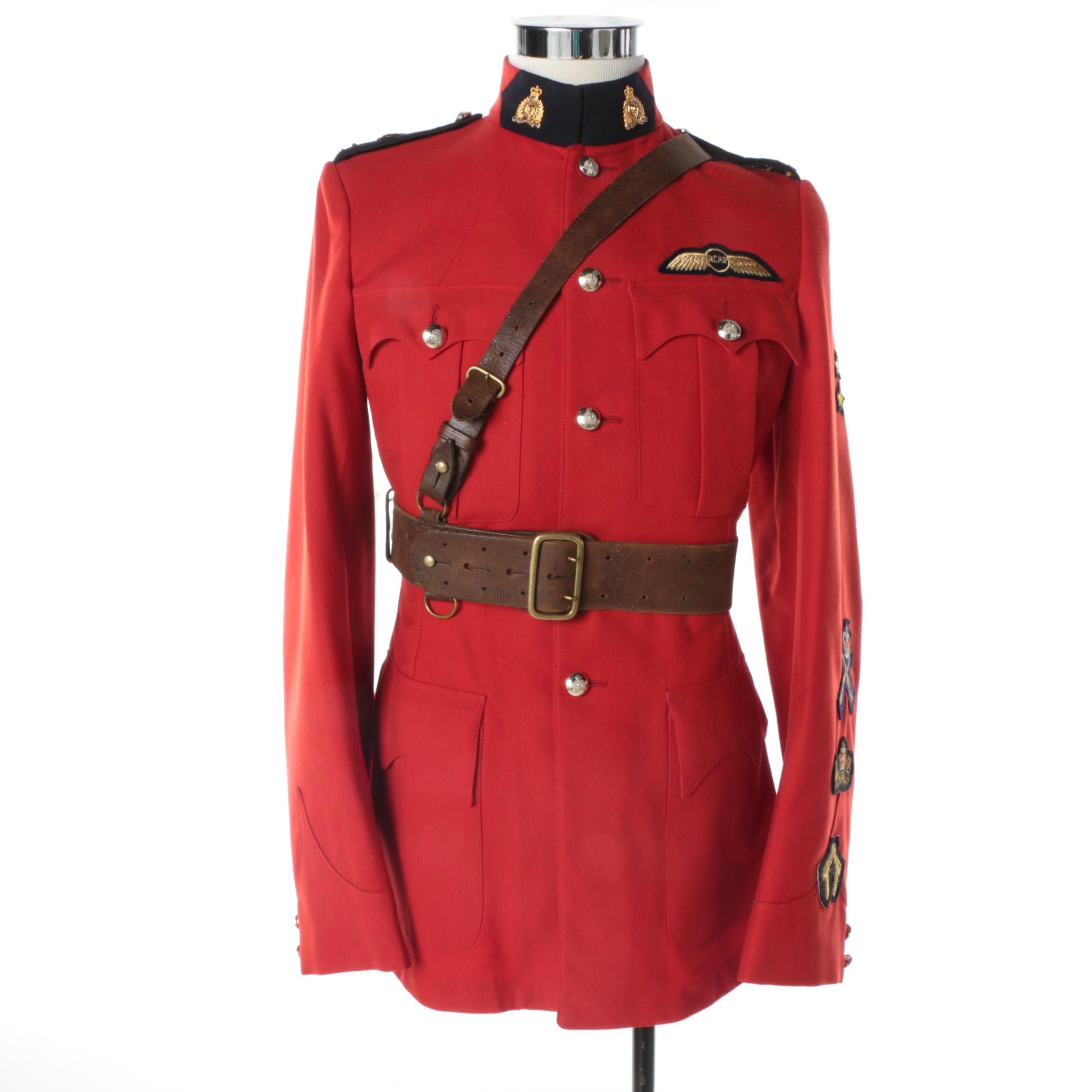 Men's Vintage Royal Canadian Mountain Police Uniform Jacket