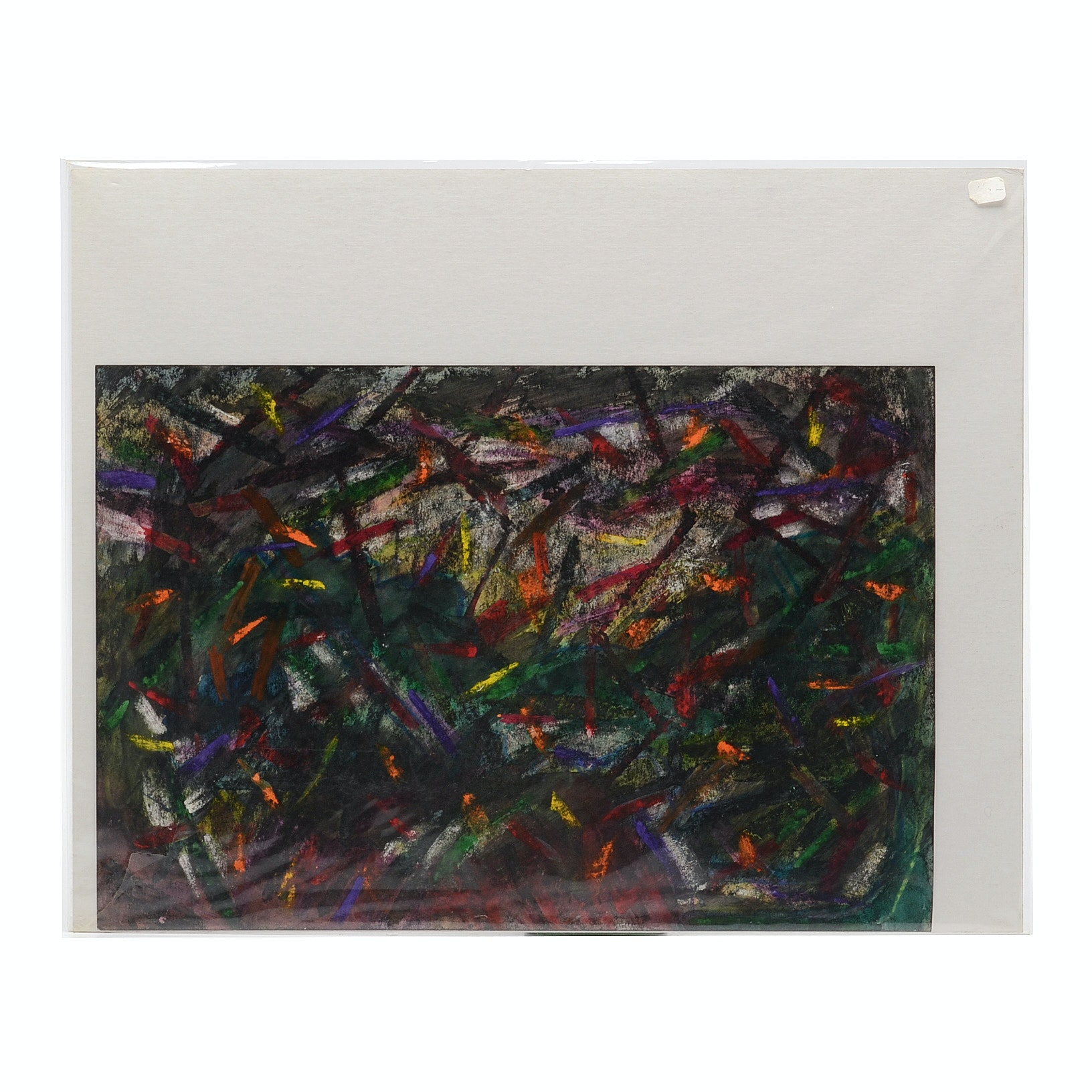 Carol Mathews Abstract Acryilc Painting on Paper