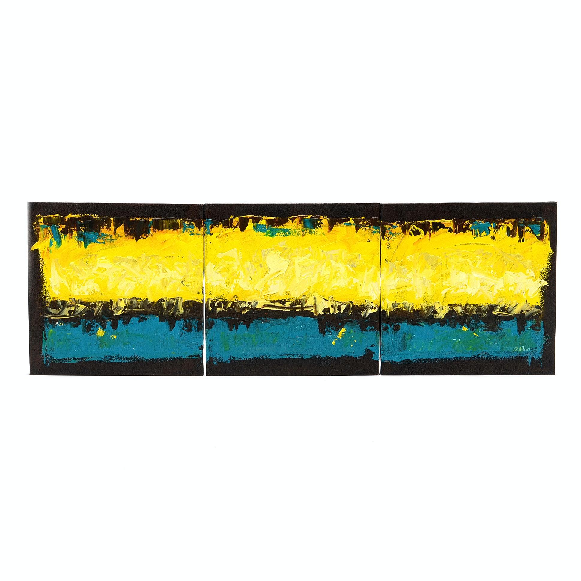 Rebecca Manns Original Oil on Canvas Triptych