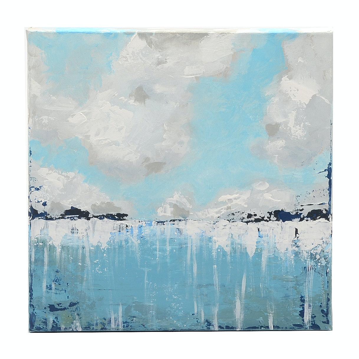 "Sarah Brown Original 2018 Acrylic on Canvas ""Impending"""