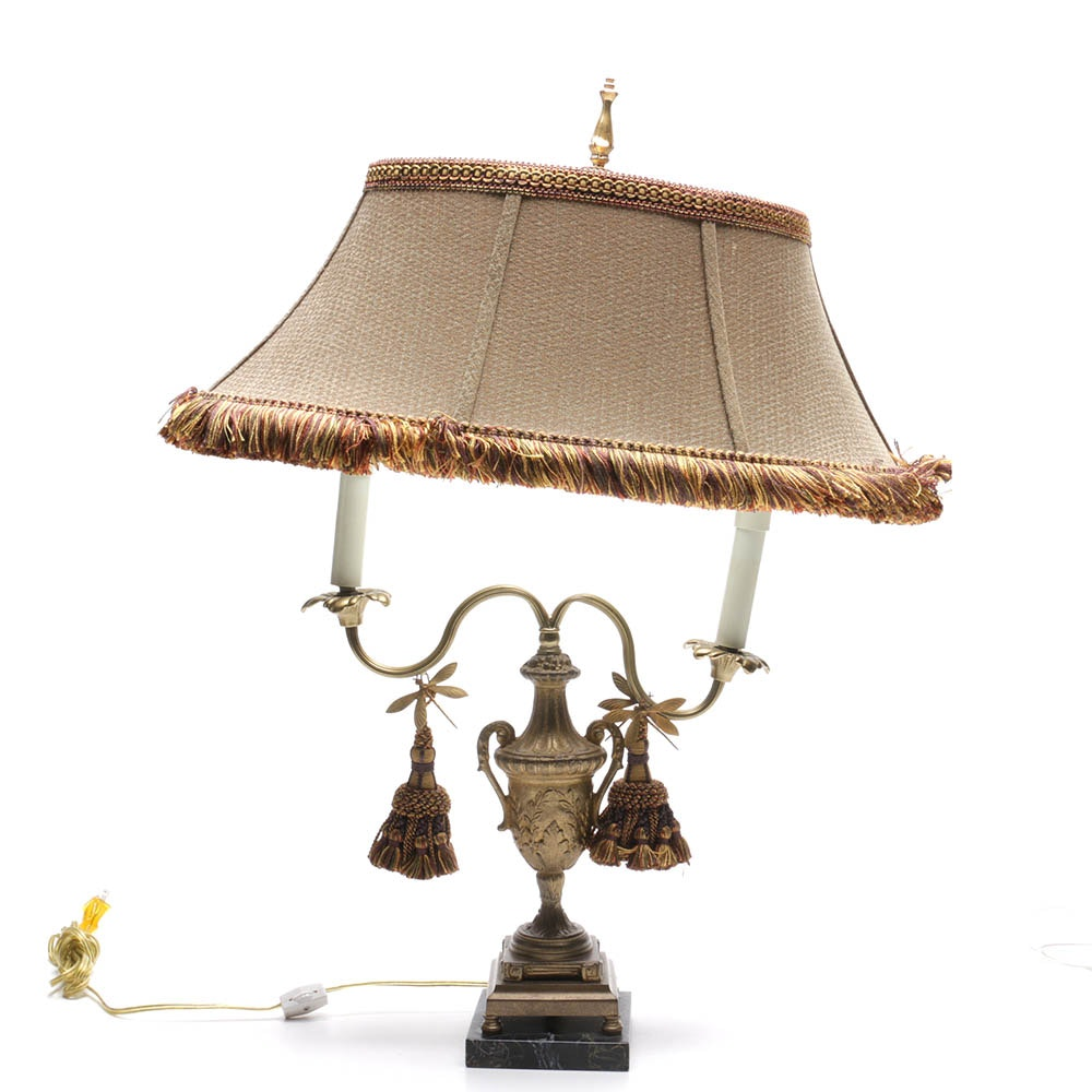 Frederick Cooper Dragonfly Double Candlestick Table Lamp