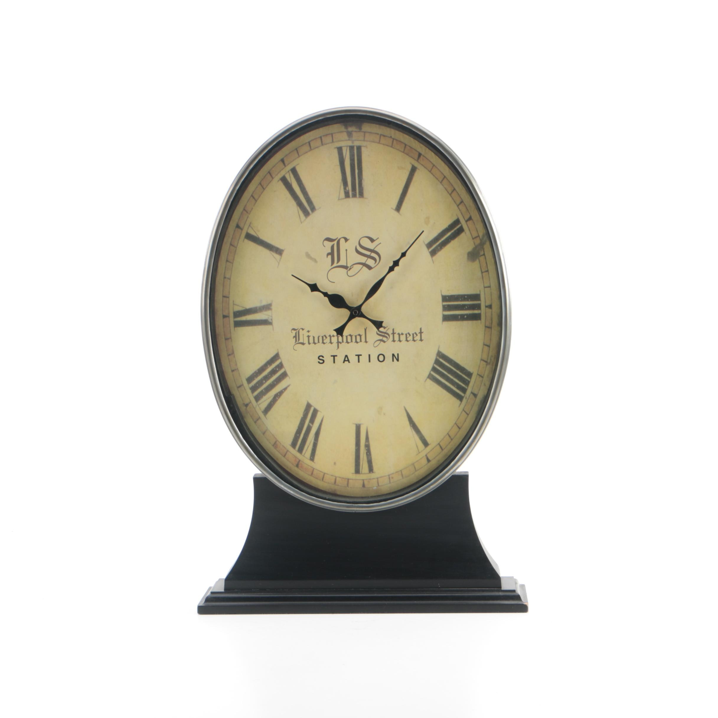 "Contemporary ""Liverpool Street Station"" Mantel Clock"
