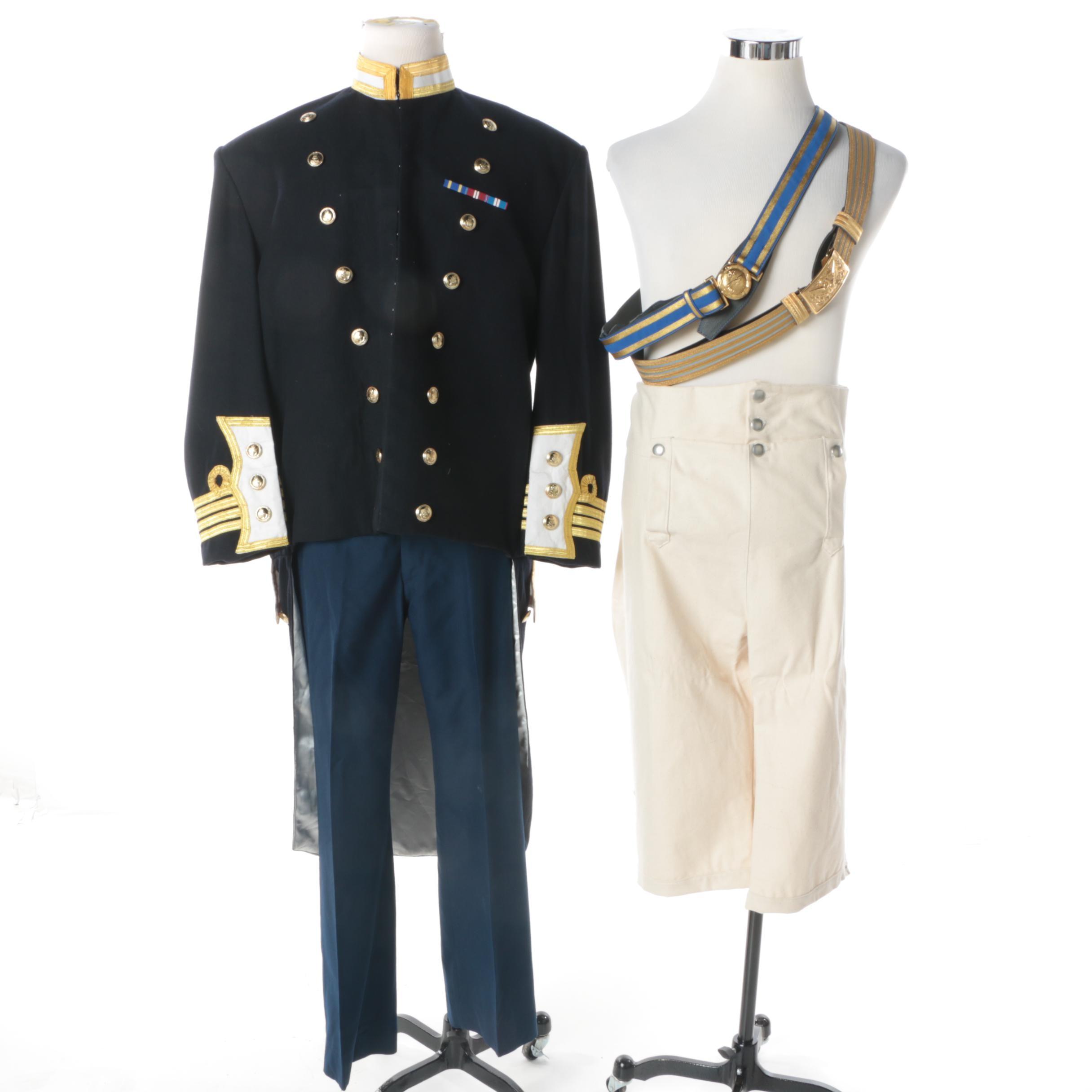 Men's Replica Royal Navy Uniform, Pants and Belts