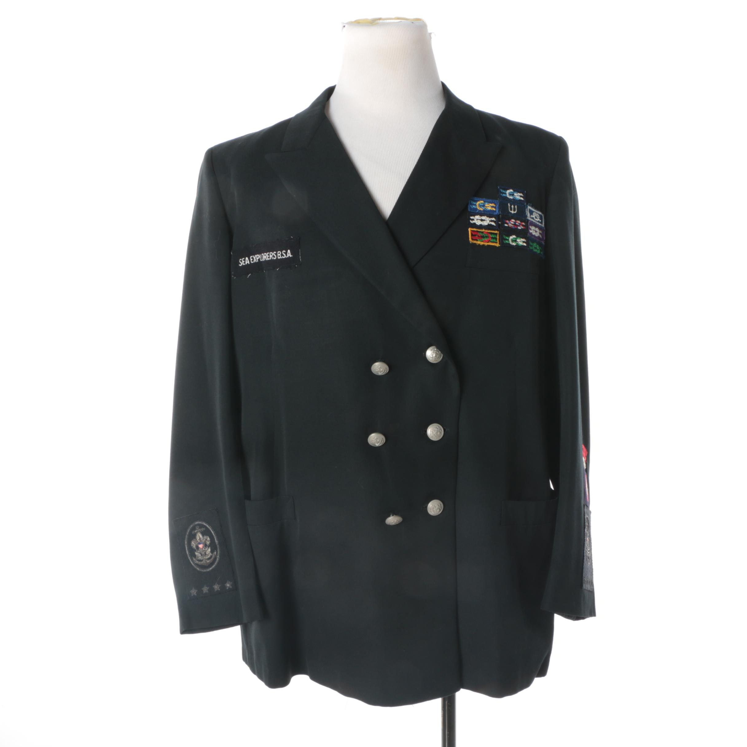 Sea Explorers B.S.A. Black Wool Double-Breasted Jacket