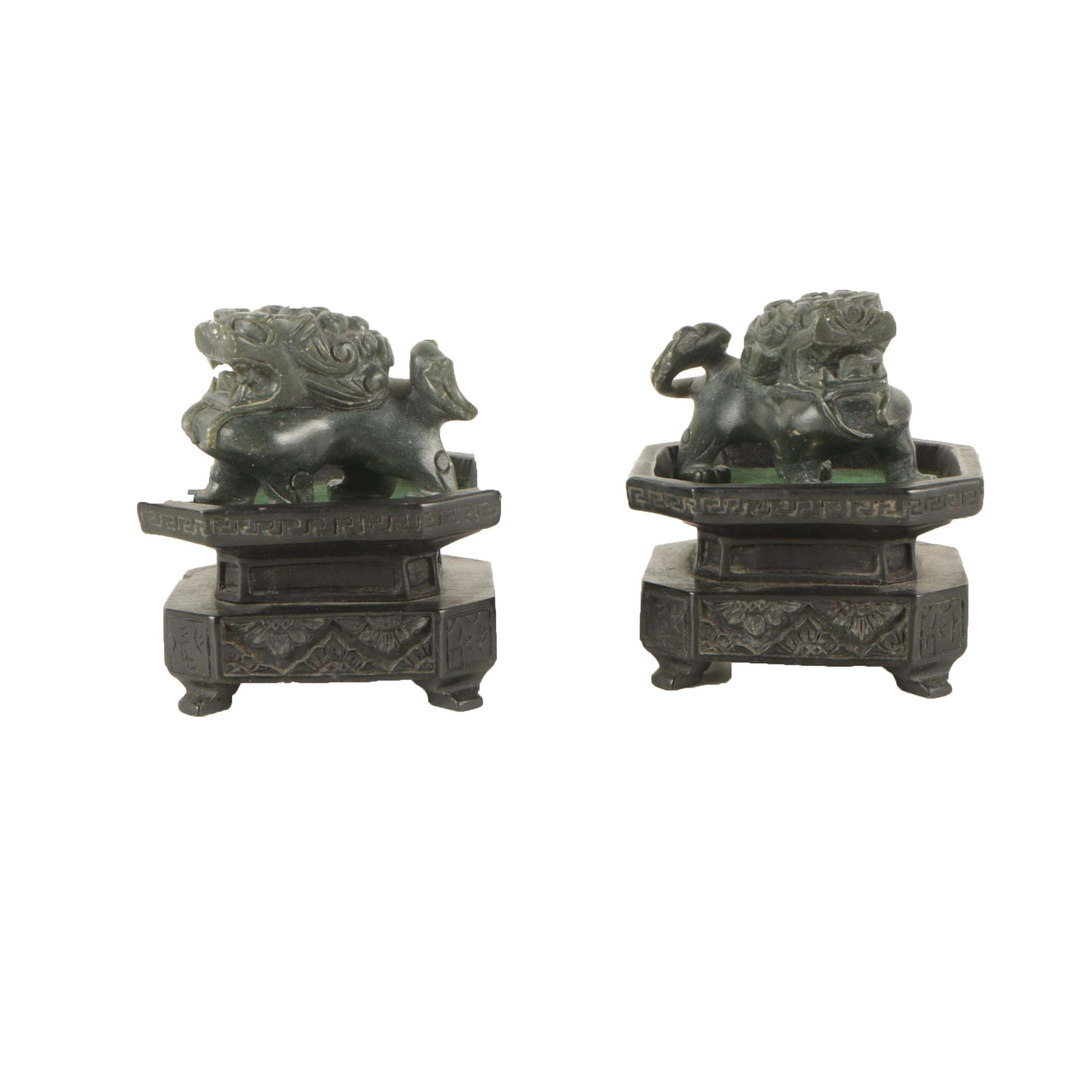 East Asian Inspired Guardian Lions Sculptures