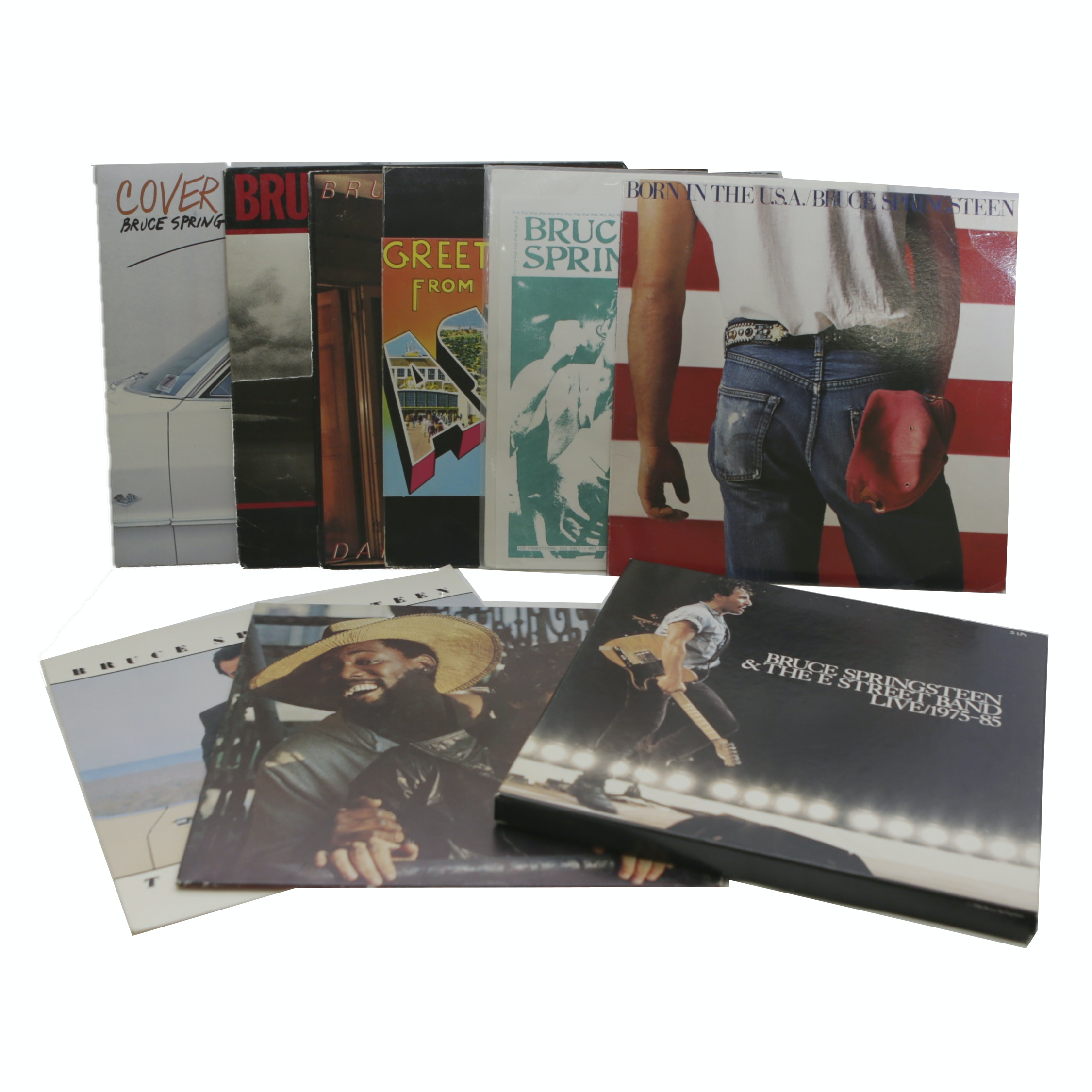 """Greetings From Asbury Park"" and Other Bruce Springsteen LP Records"