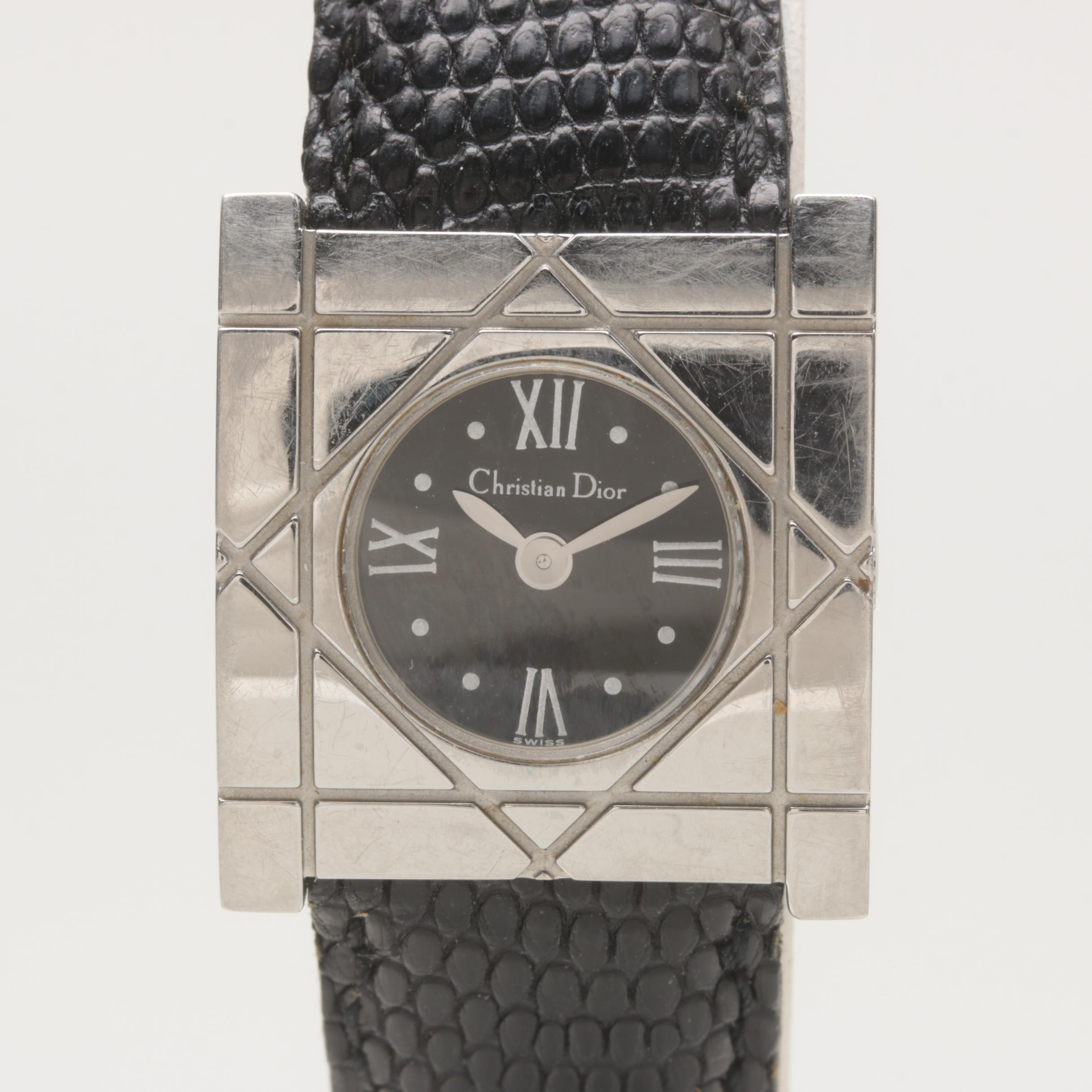 Christian Dior Stainless Steel Wristwatch with Box