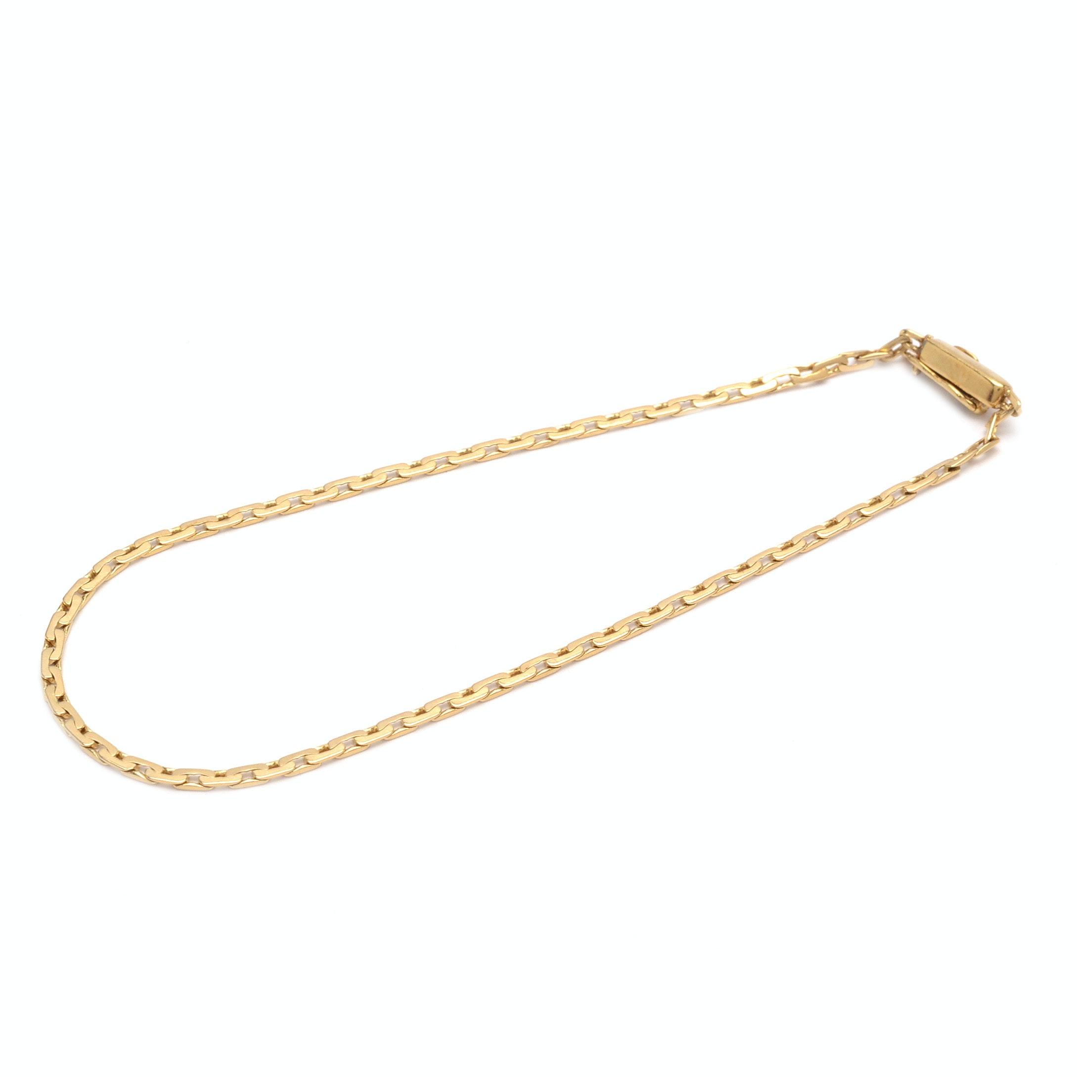 14K Yellow Gold Fancy Chain Bracelet