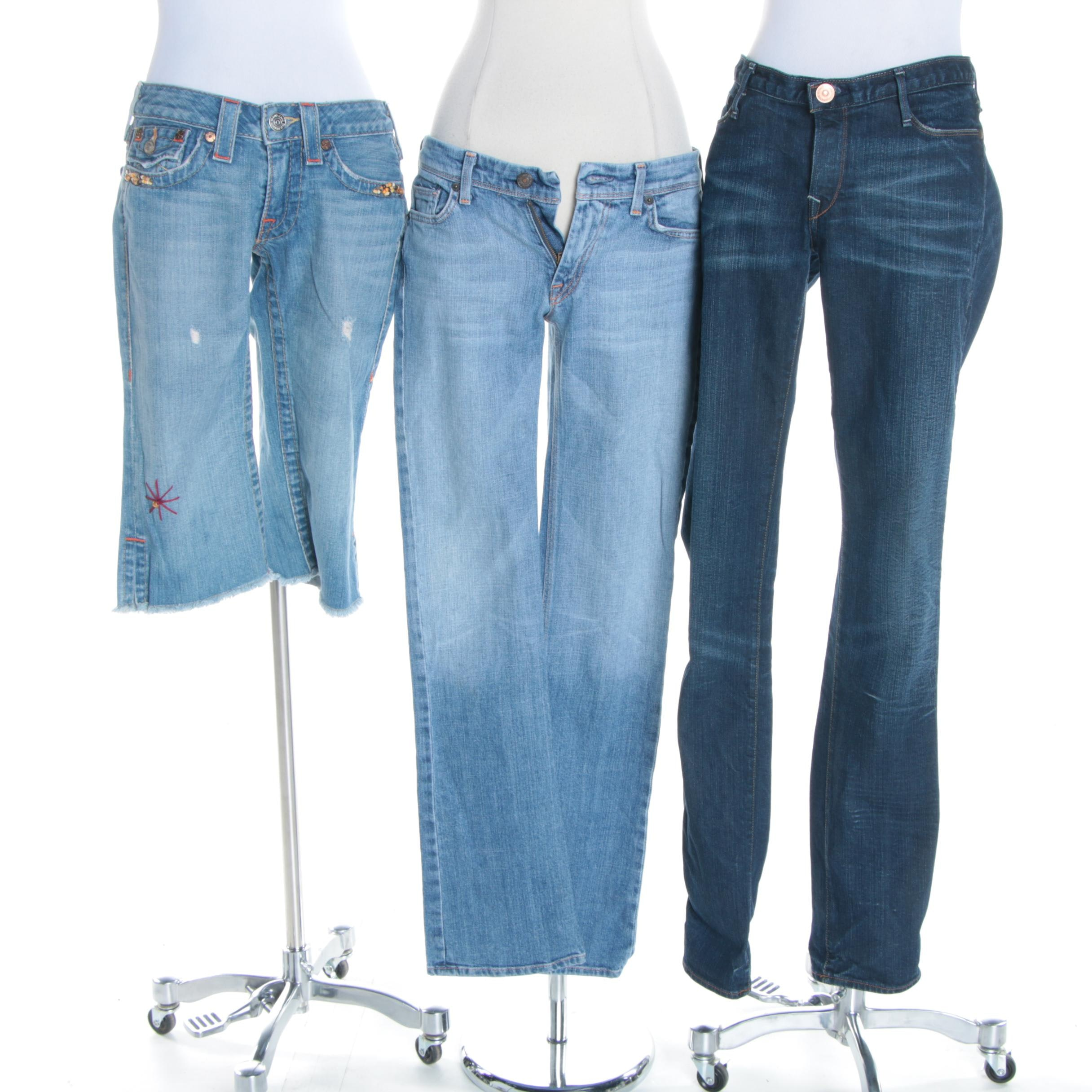 Women's Jeans and Capris Including 7 For All Mankind and True Religion
