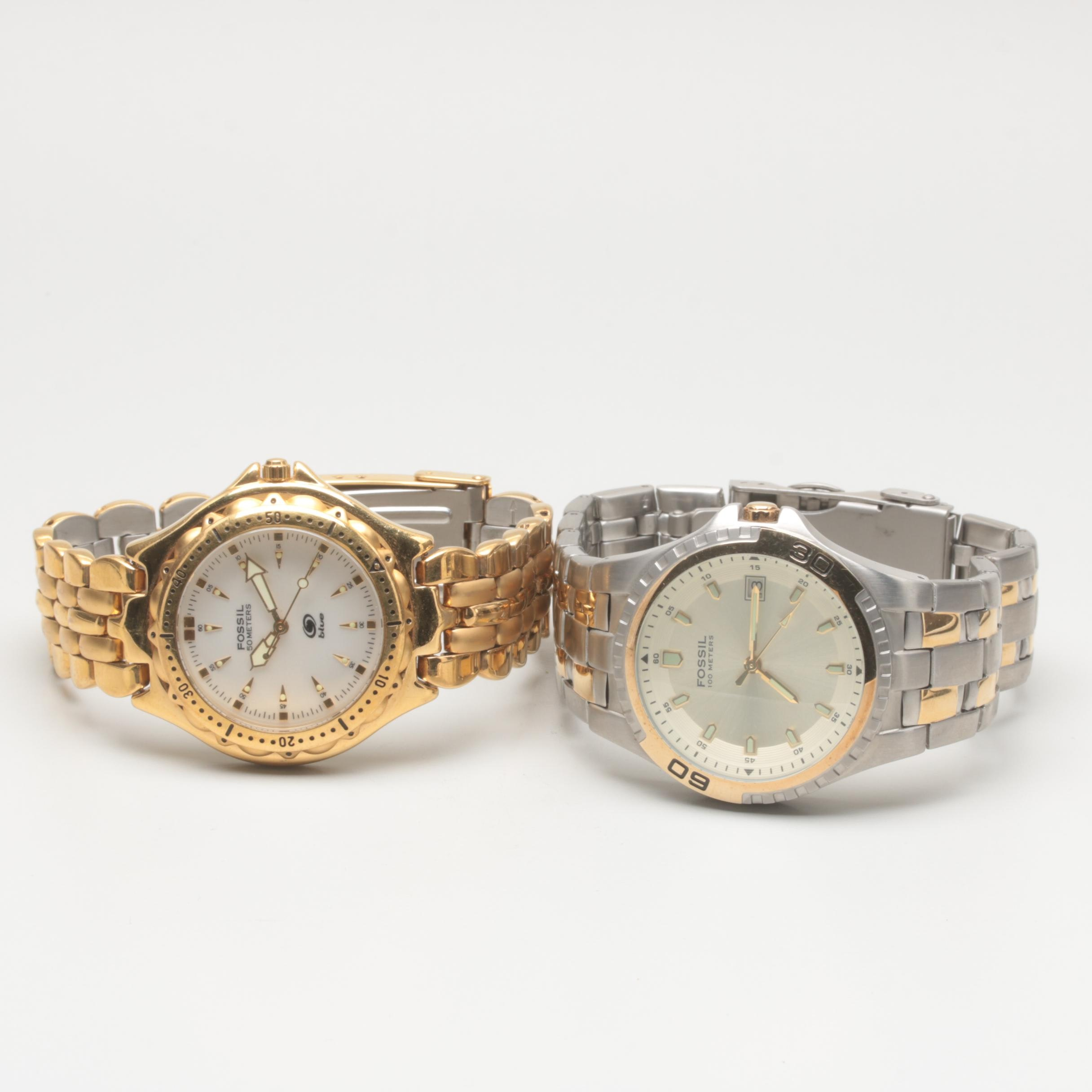 Fossil Stainless Steel Wristwatch Selection