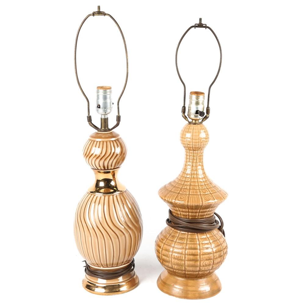 Vintage Mid Century Ceramic Table Lamps