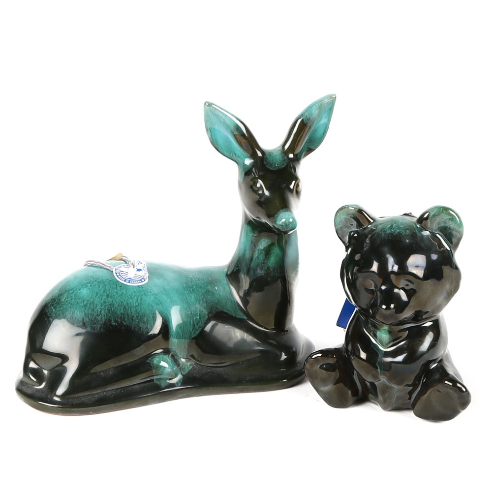 Canadian Blue Mountain Pottery Animal Figurines