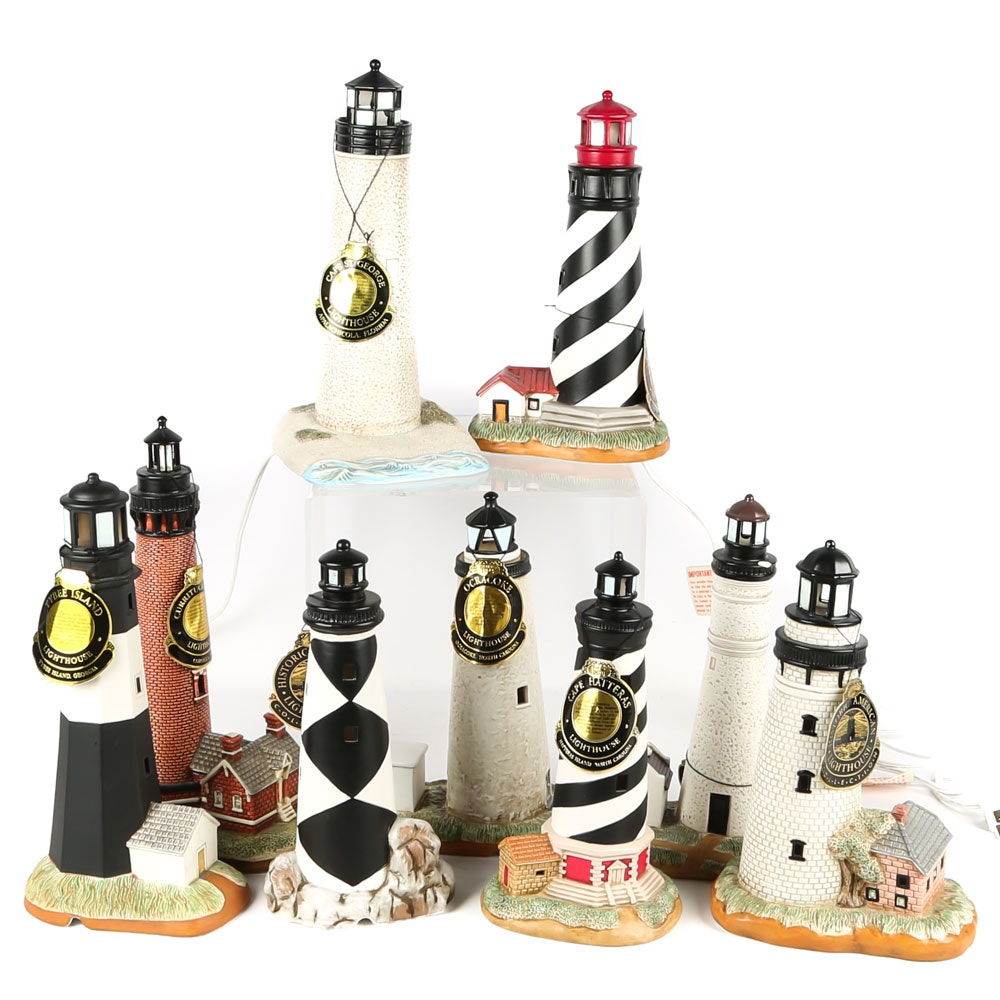"Lefton ""Historic America"" Illuminated Lighthouses"