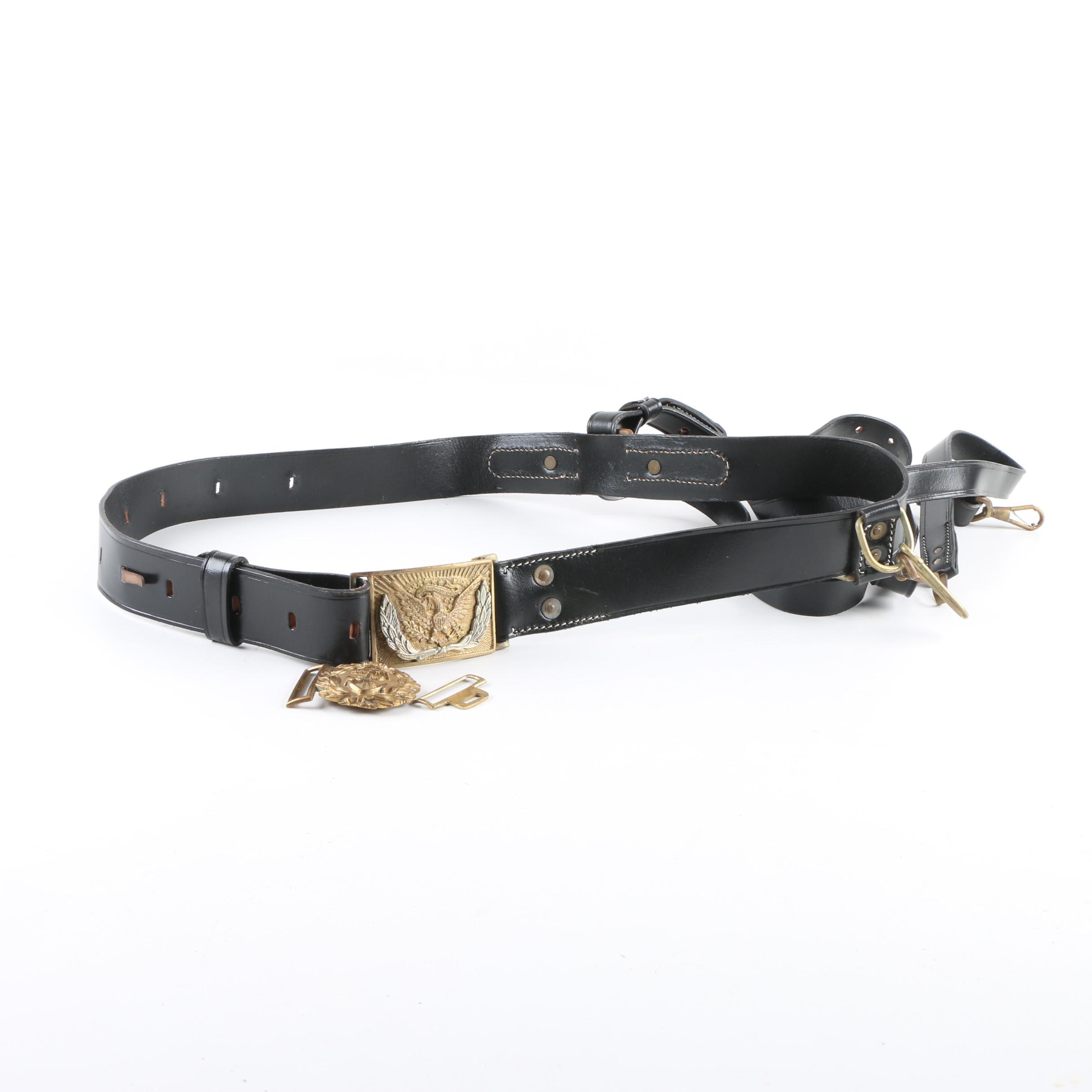 Vintage Military Belt and Holster