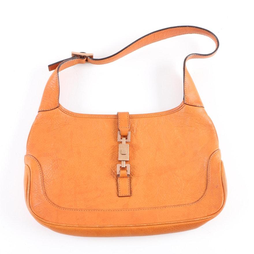 414699818 Gucci Jackie O Small Leather Hobo Bag : EBTH