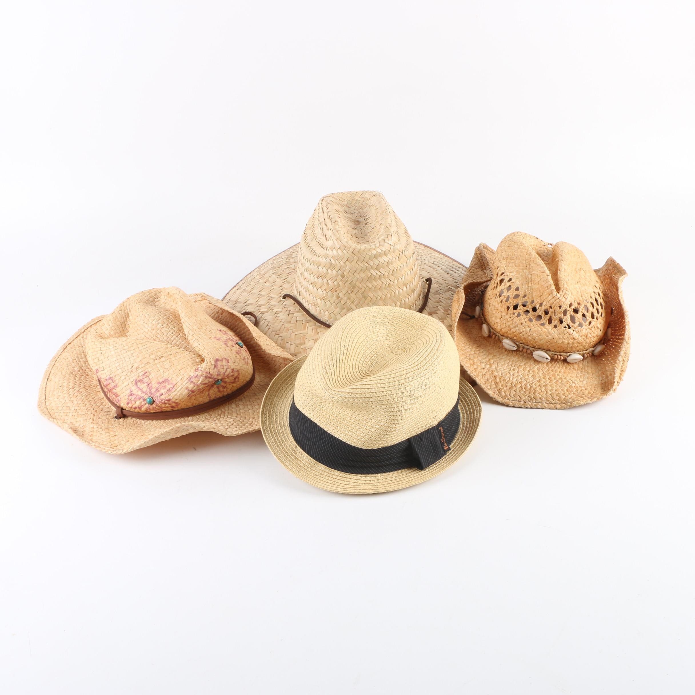 Men's Straw Hats Including Ben Sherman and Scala