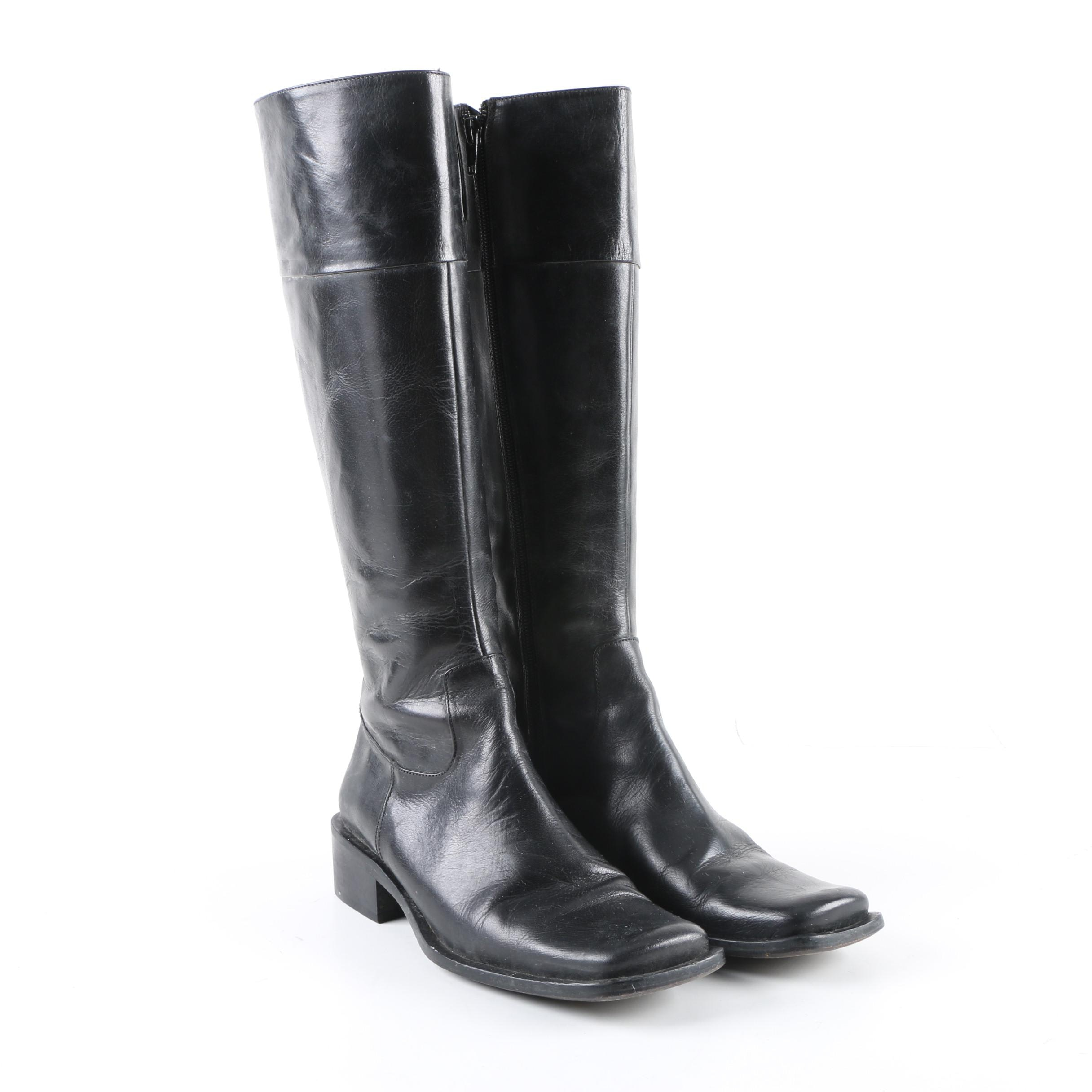 Women's Charles David Black Leather Boots